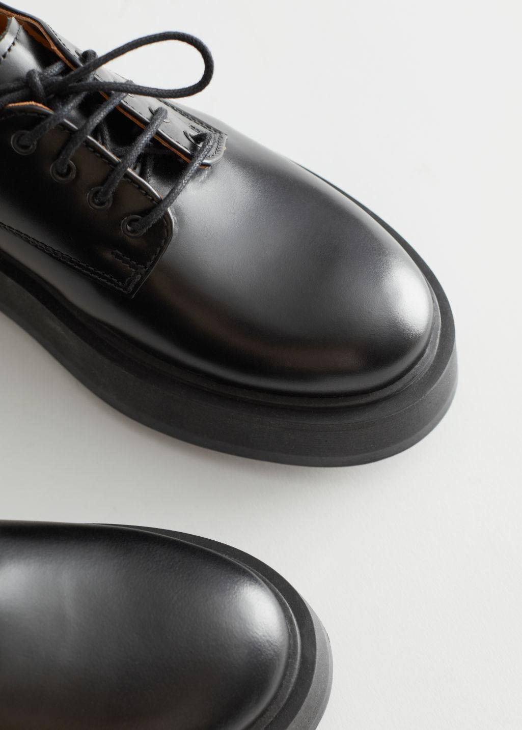 Chunky Leather Oxfords 2