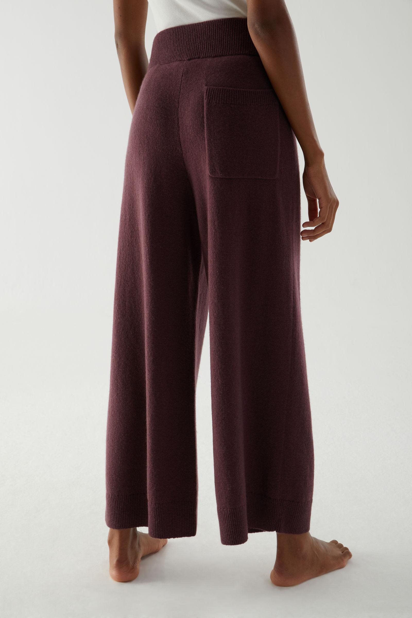 RECYCLED CASHMERE WIDE-LEG PANTS 3