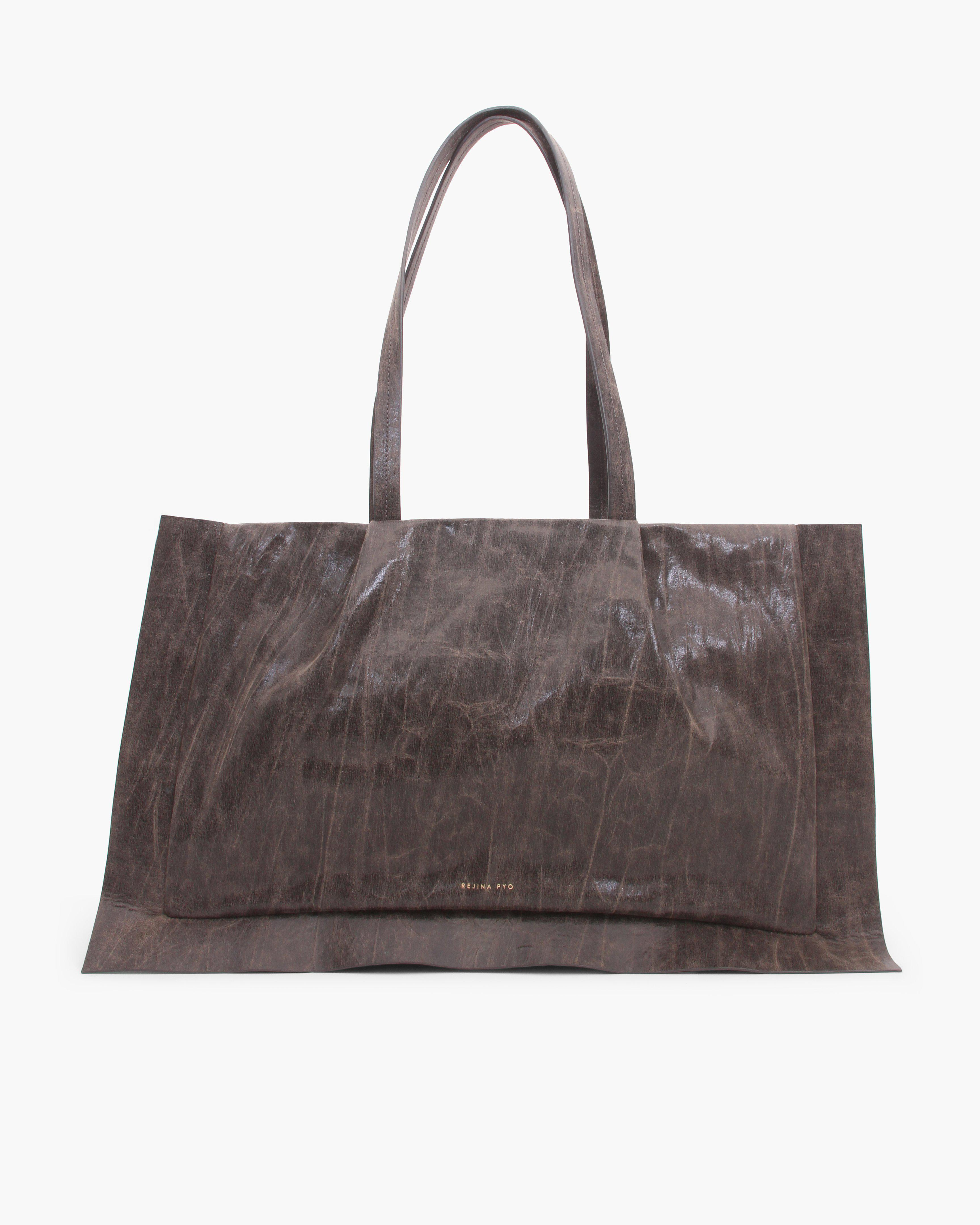 Myla Tote Crinkle Faux Leather Brown