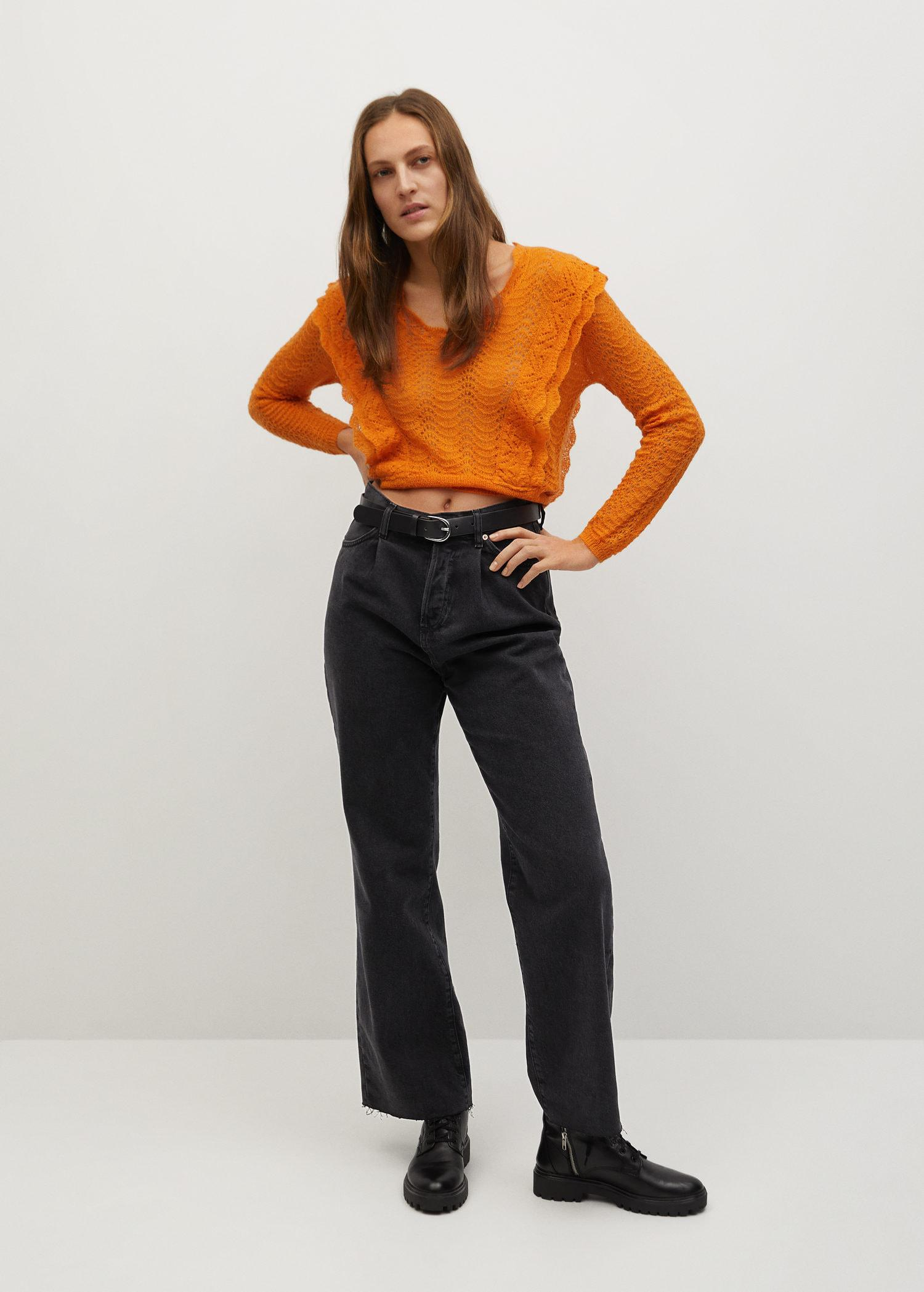 Openwork cropped sweater 1