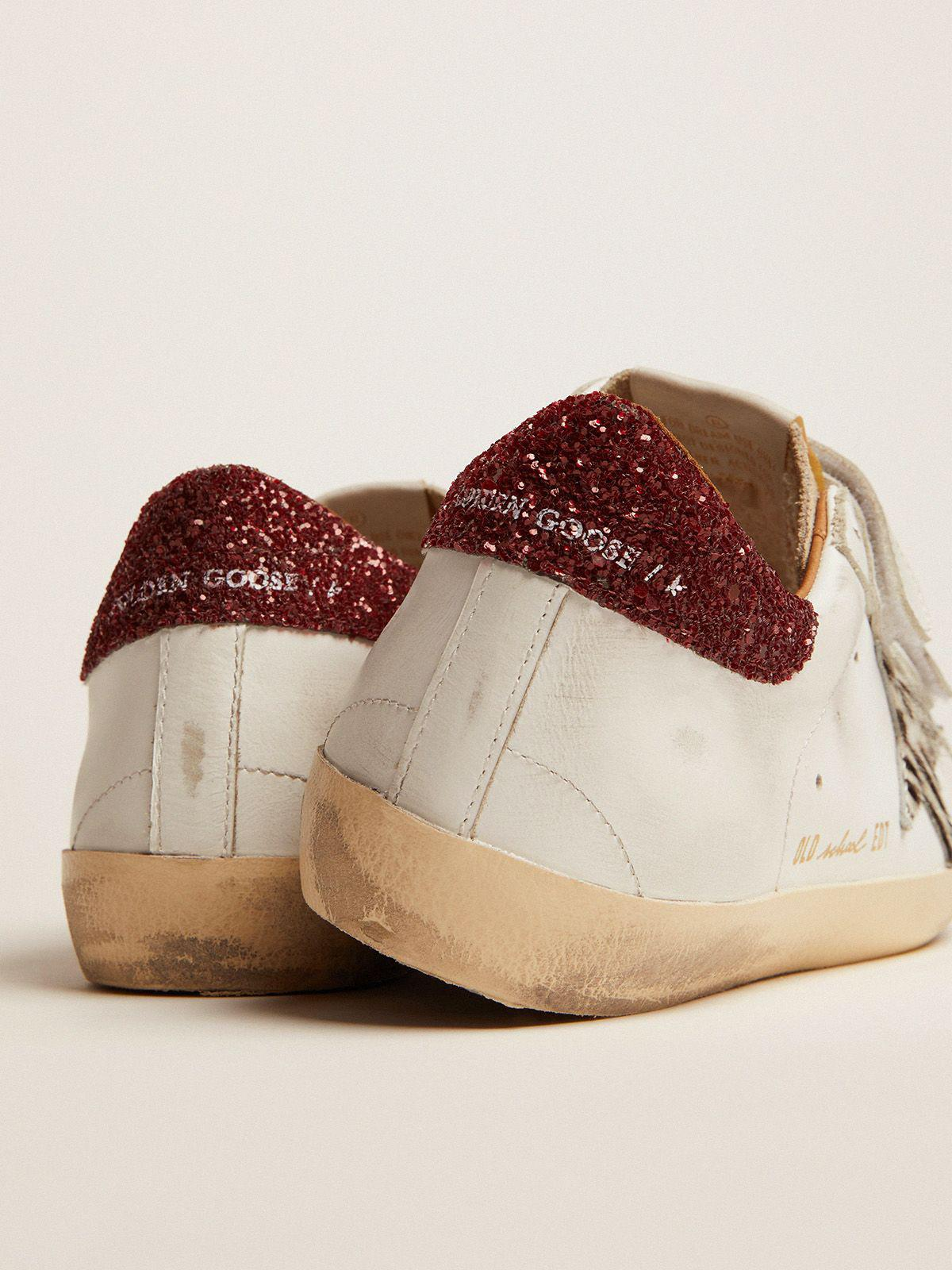 Old School sneakers with zebra-print pony skin star and red glitter heel tab 3
