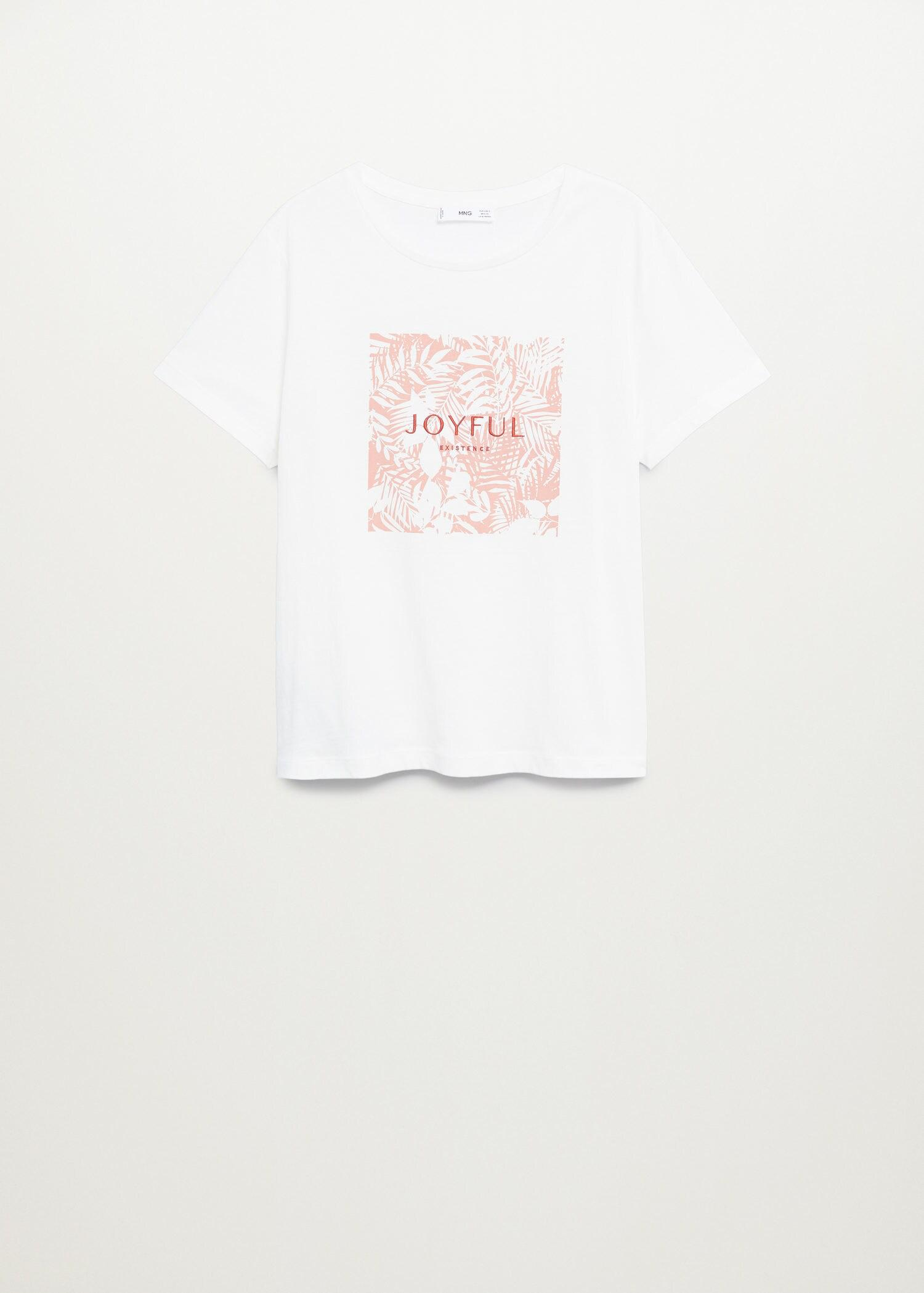 Embroidered printed T-shirt 7