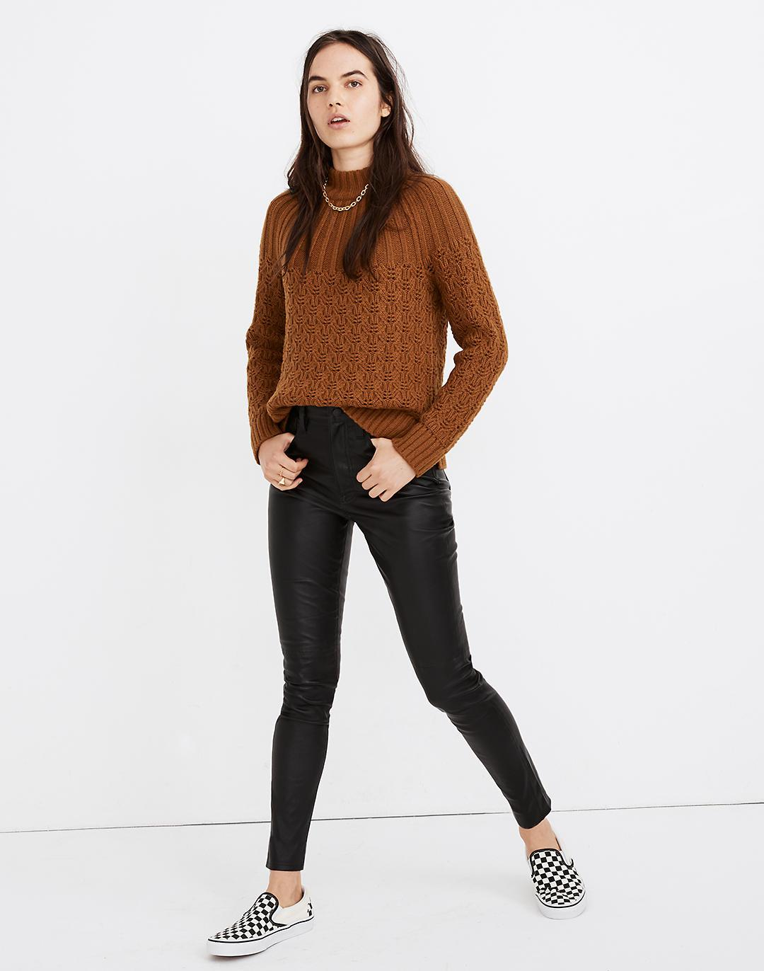"""10"""" High-Rise Skinny Jeans: Leather Edition"""
