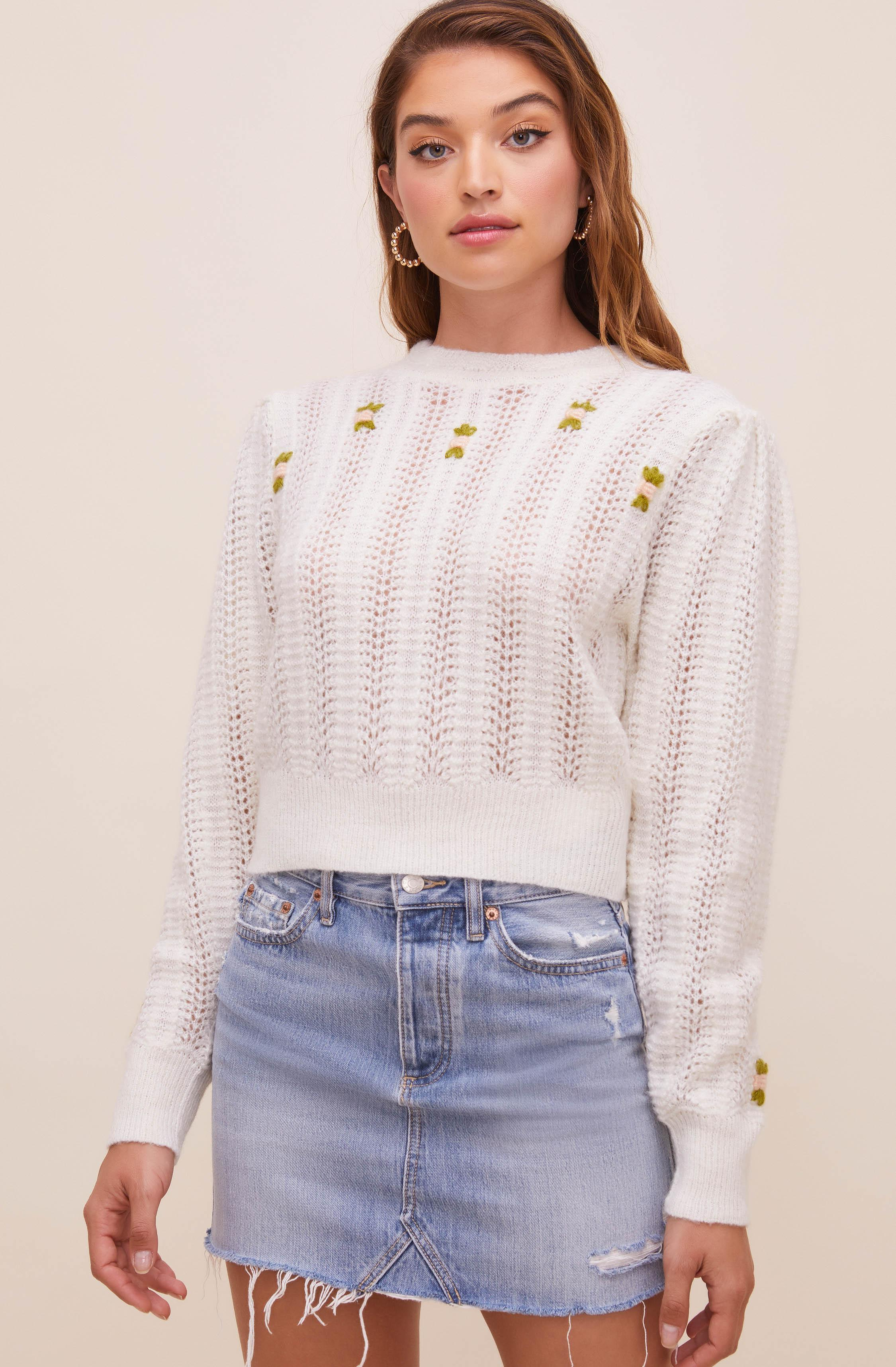 Taya Floral Embroidered Sweater