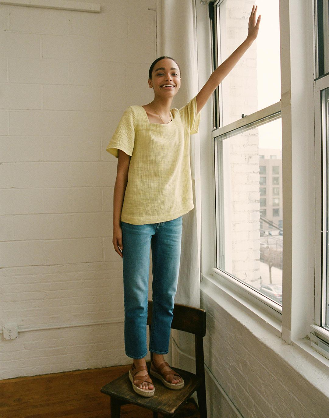 The Perfect Vintage Crop Jean in Sandford Wash: Summerweight Edition 3