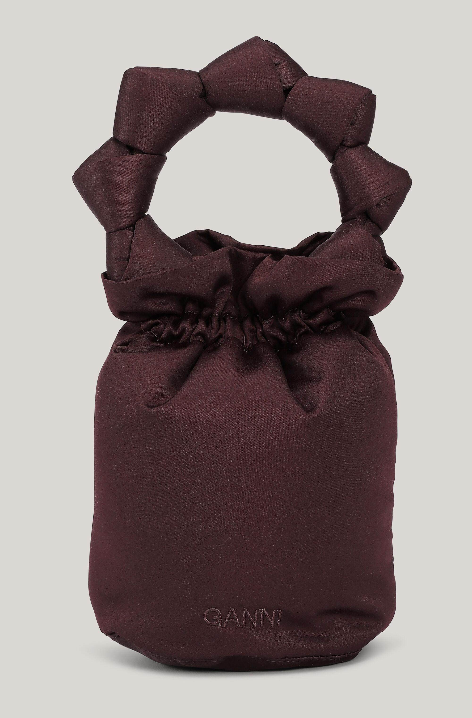 Satin Knotted Pouch Mini Bag