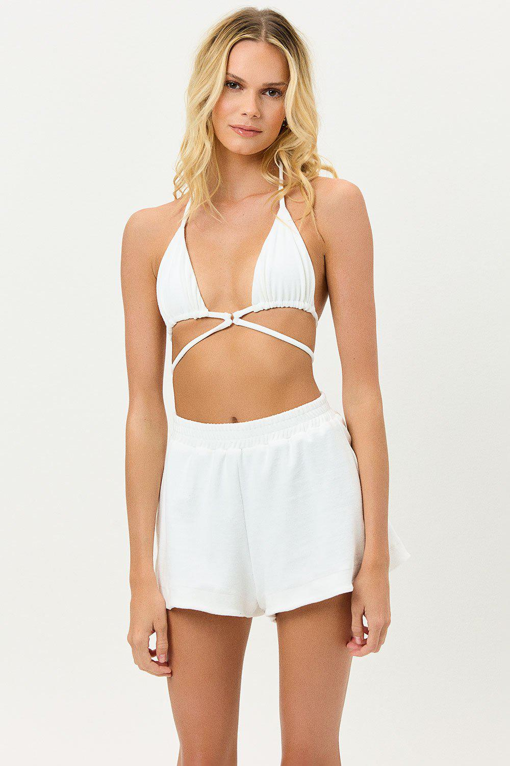 Coco Terry Shorts - White 1