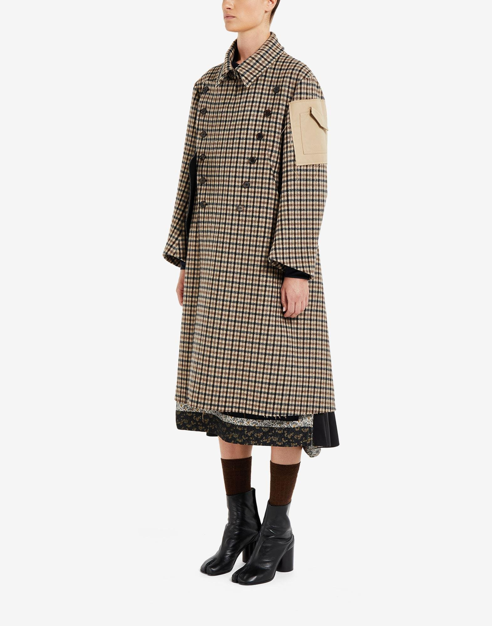 'Memory of' check trench coat 3