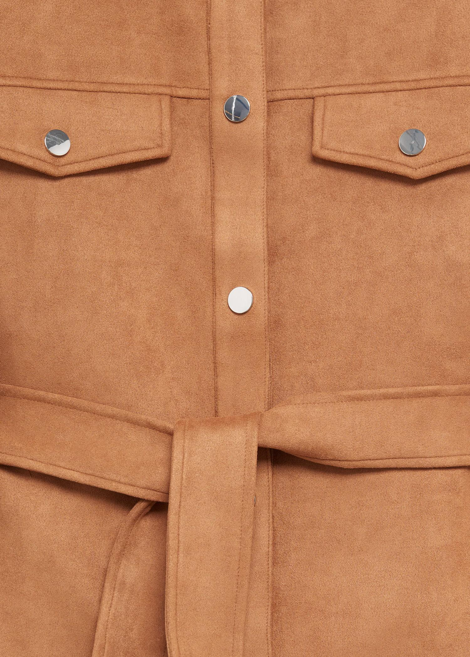 Leather-effect jacket with belt 6