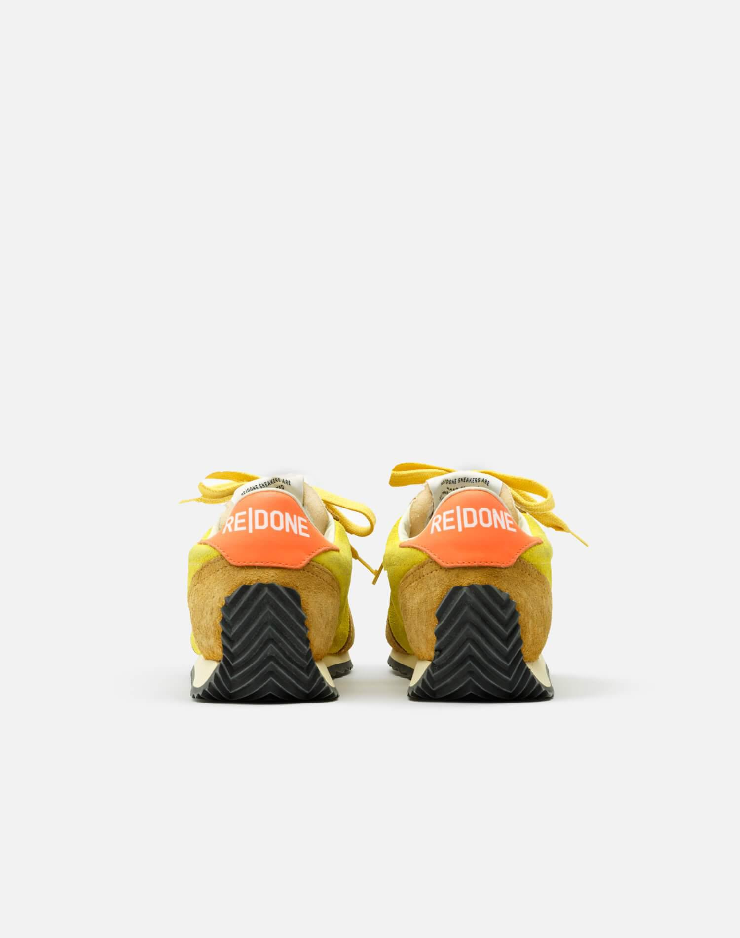 70s Runner Shoe - Lemon and Tan and Orange Suede 3
