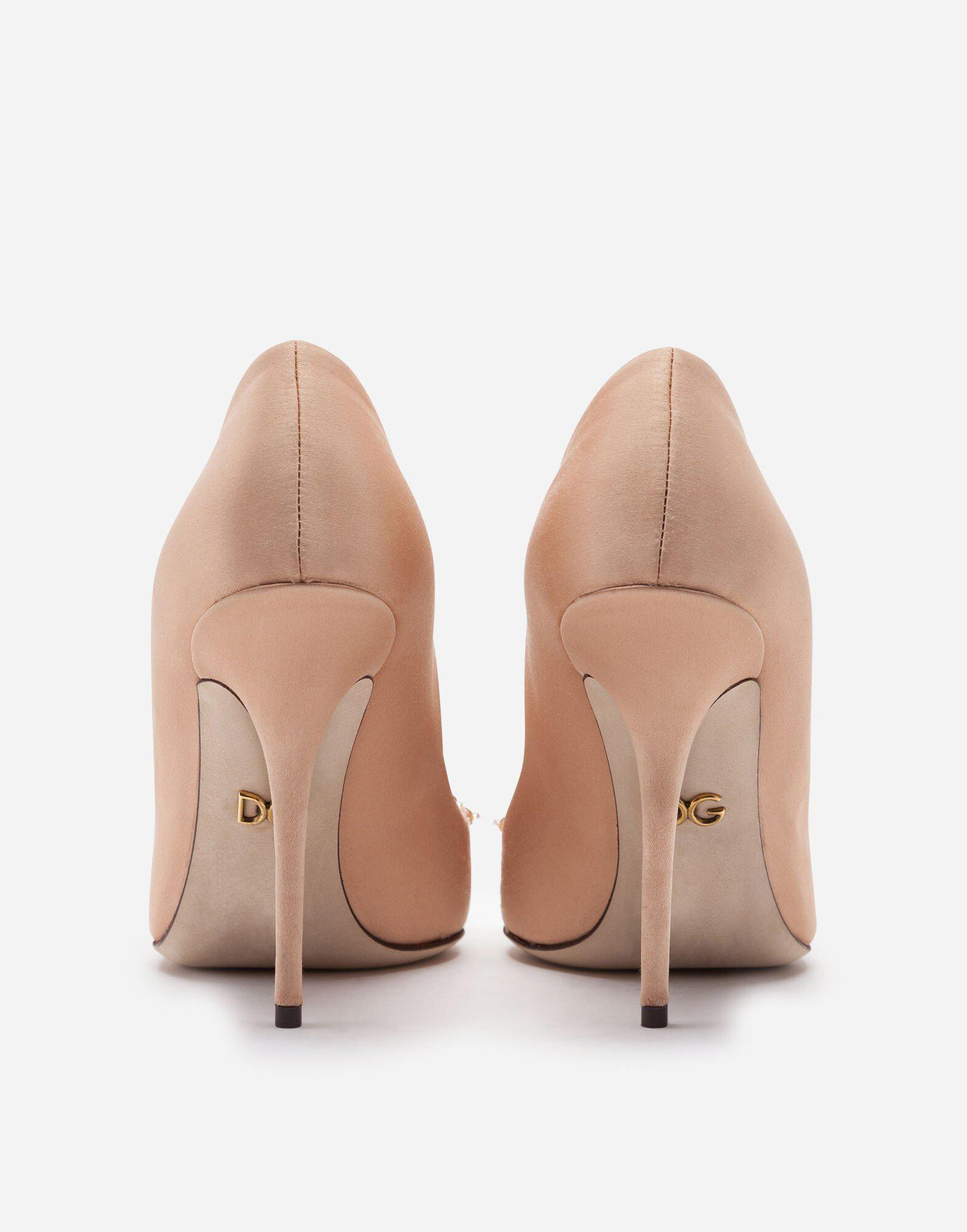 Satin pumps with bejeweled embellishment 2