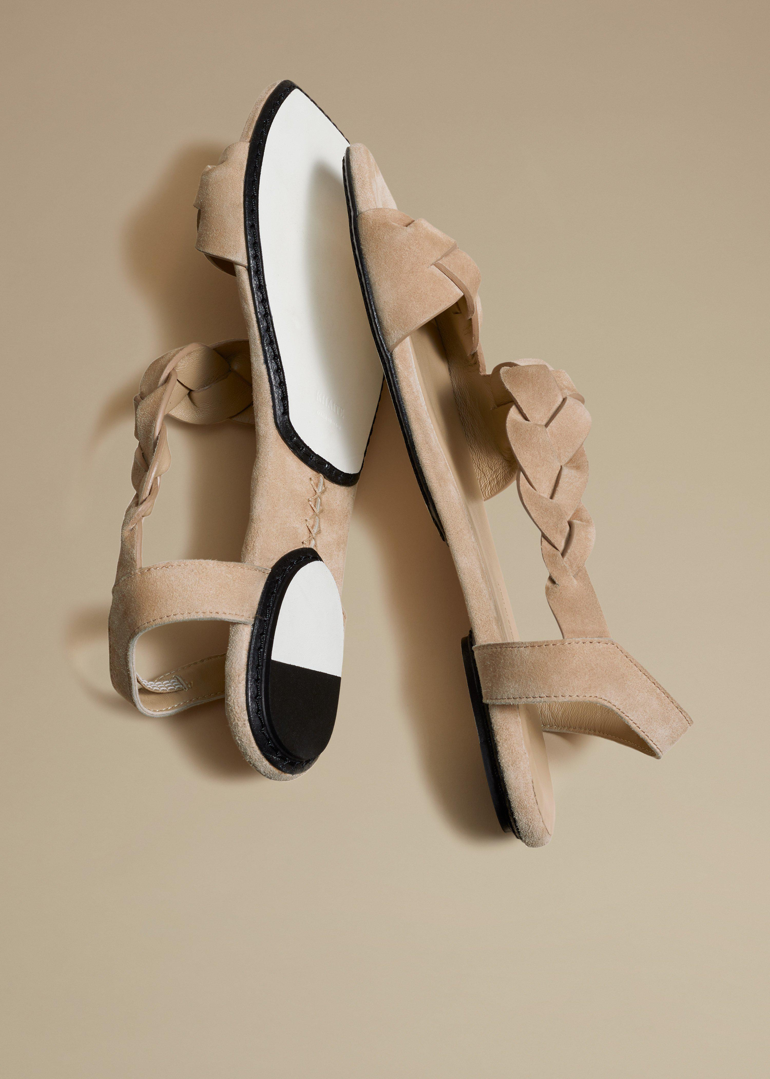 The Torrance Sandal in Biscuit Suede 3