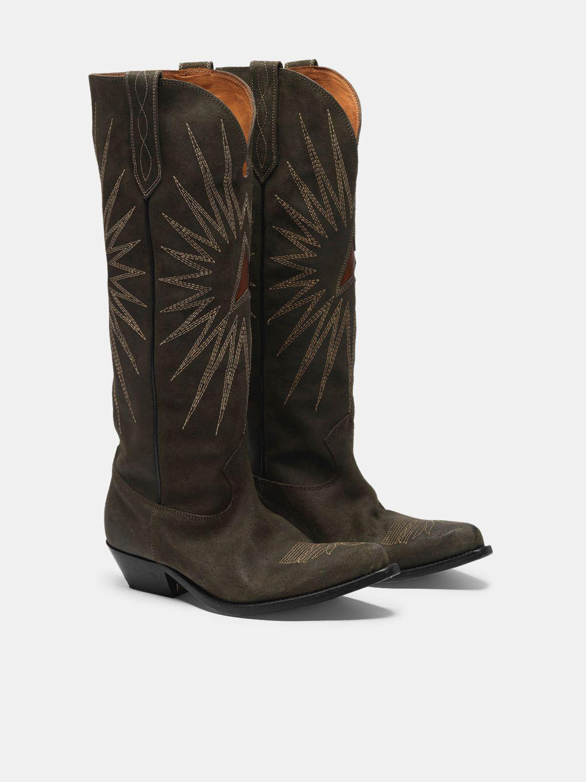 Wish Star boots in leather with Western decoration 2