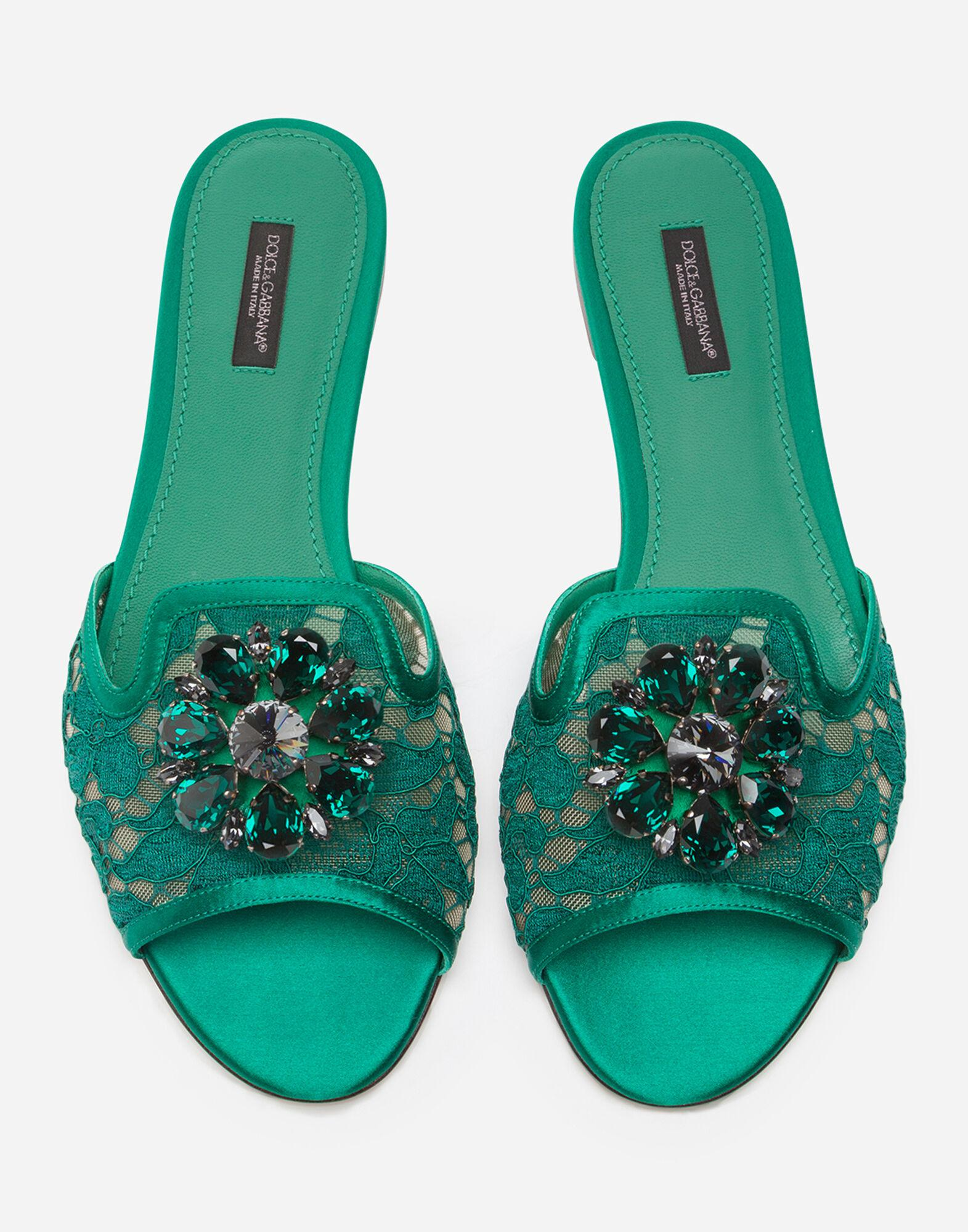 Lace slippers with crystals 3