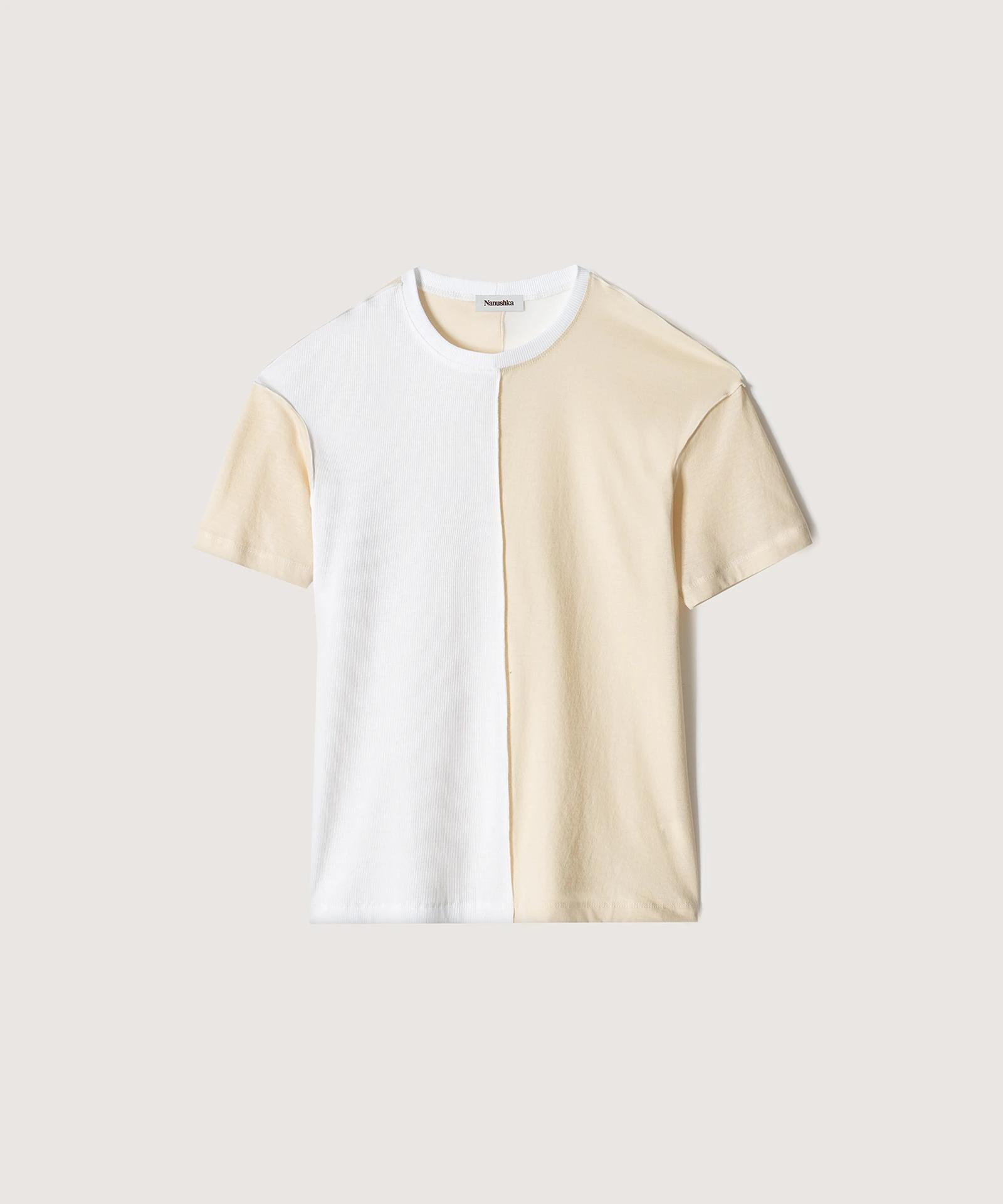 HOVE - Upcycled jersey T-shirt - Creme 3