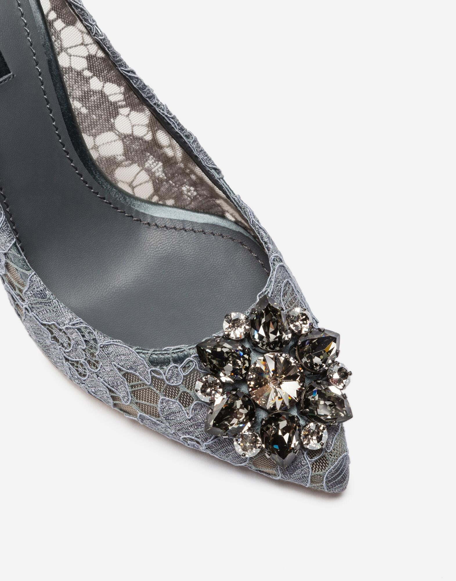 Pump in Taormina lace with crystals 1