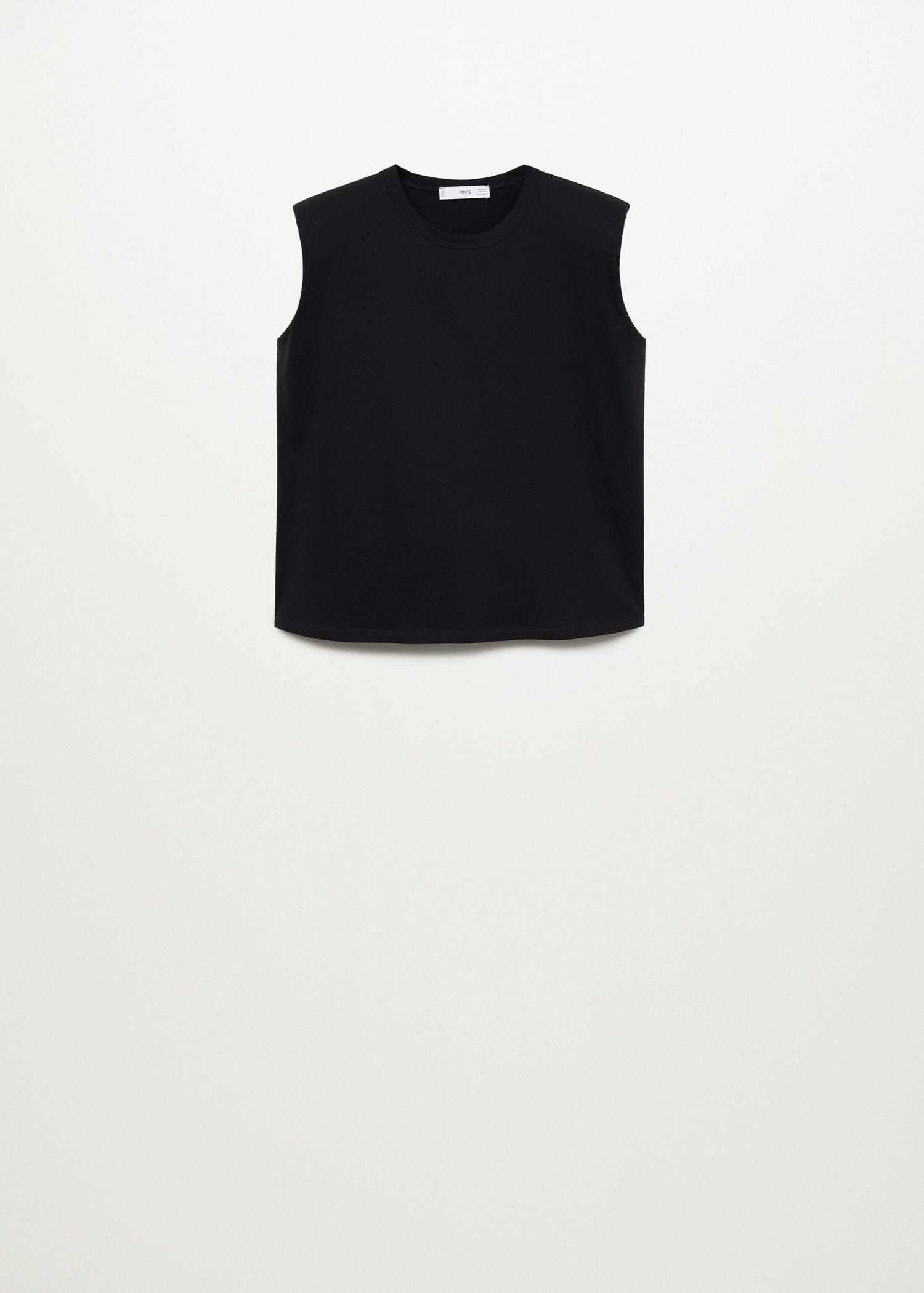 Organic cotton t-shirt with shoulder pads 8