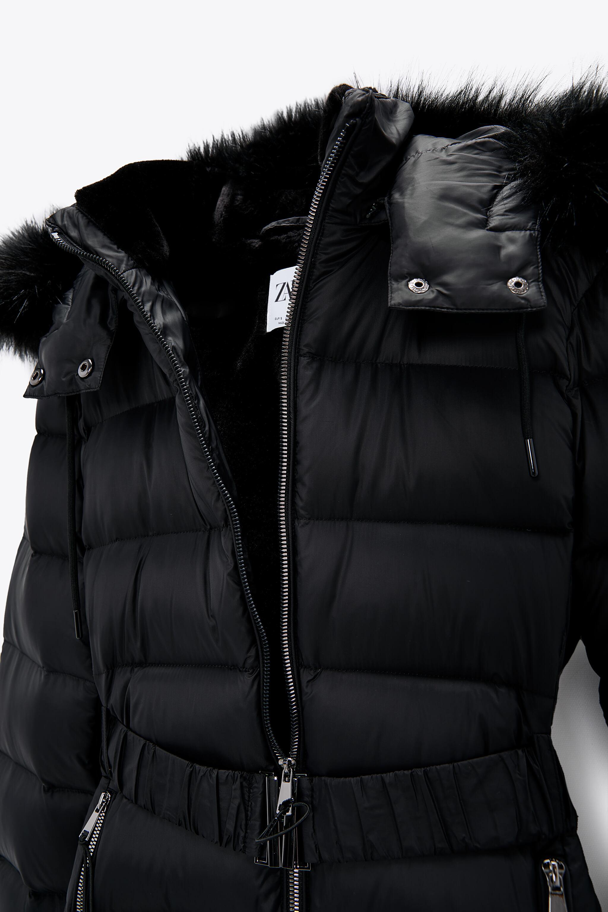 DOWN JACKET WITH FAUX FUR HOOD 7