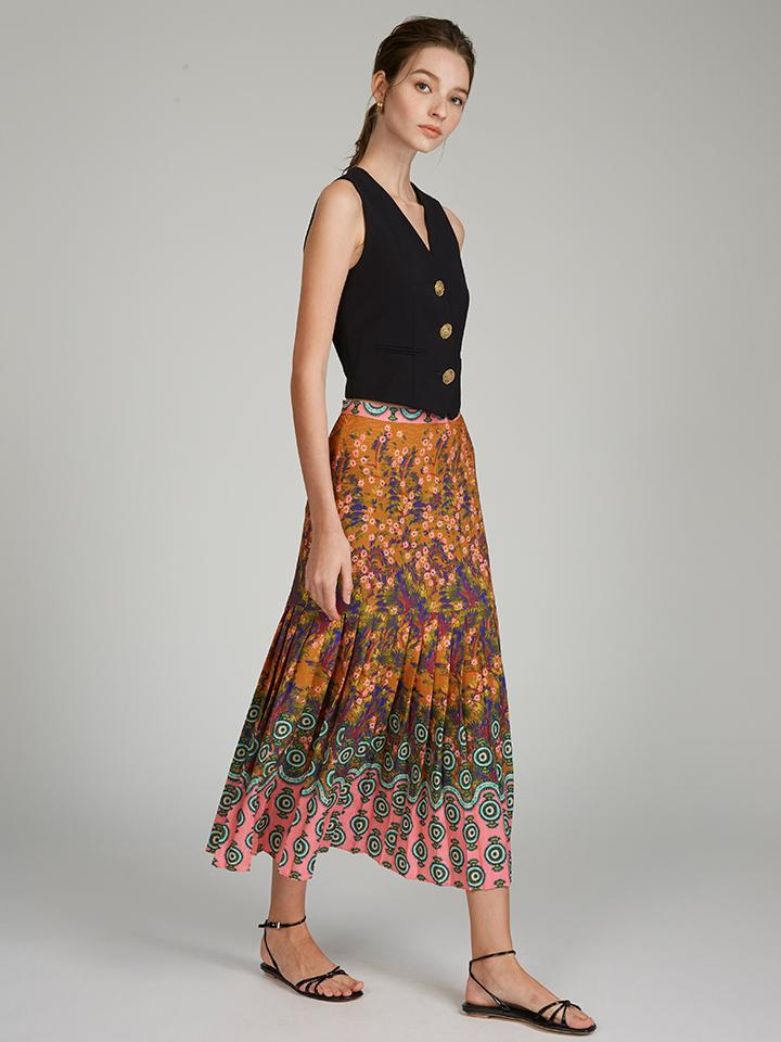 Diana E Skirt in Forest Jewel print 1