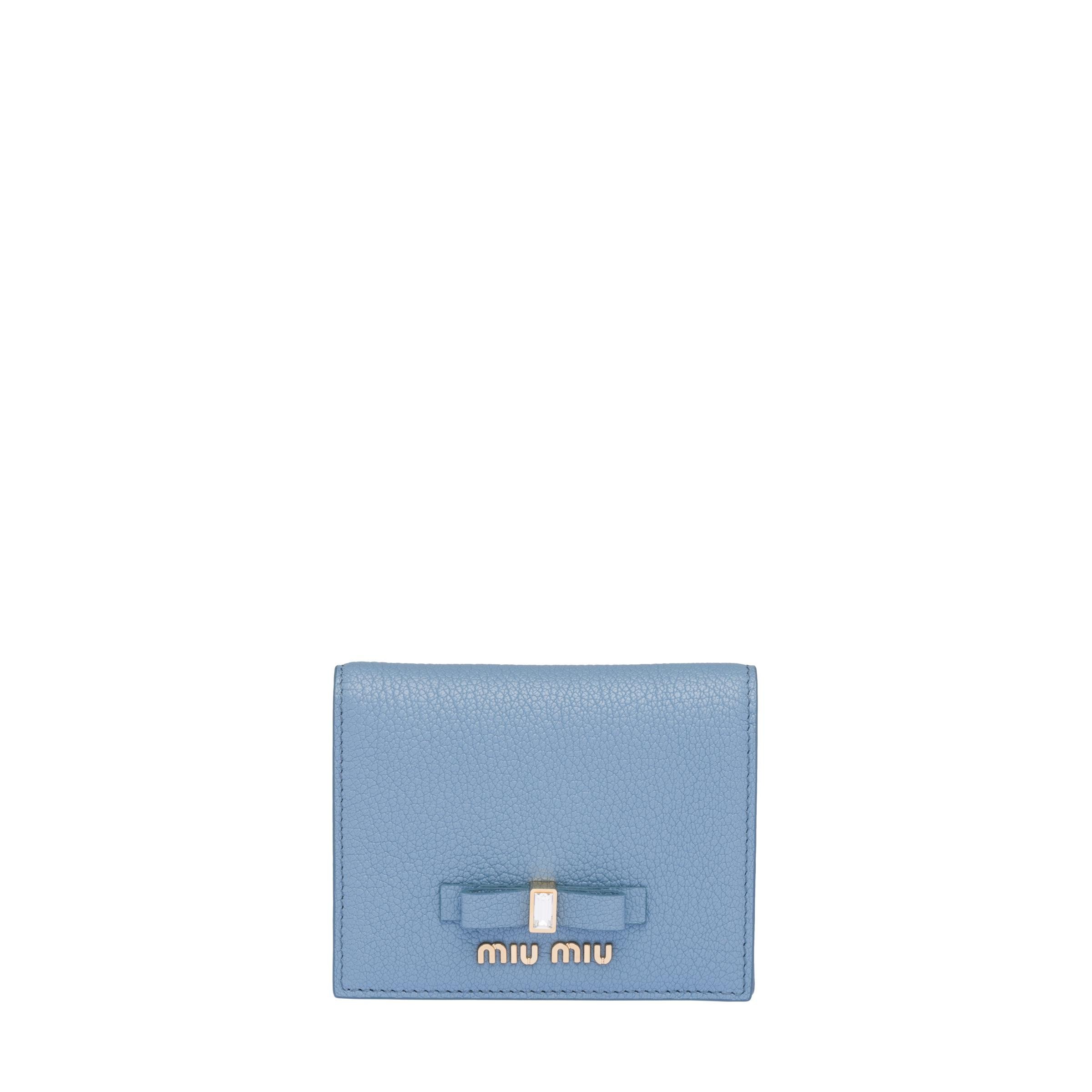 Madras Leather Wallet Women Astral Blue