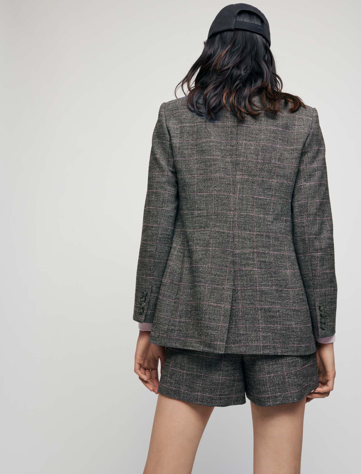 SLIGHTLY FITTED CHECKED JACKET 3