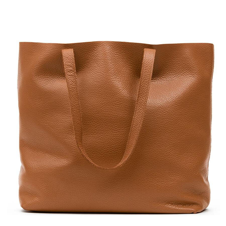 Women's Classic Leather Tote Bag in Caramel | Pebbled Leather by Cuyana