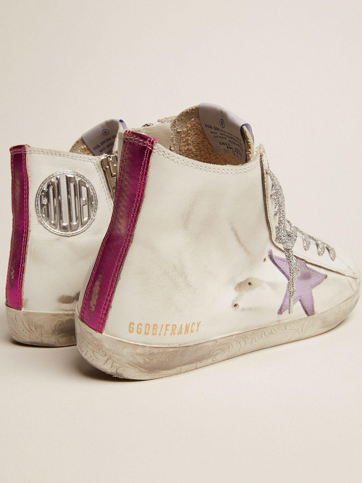 Francy sneakers with foxing with floral decorations and lavender-colored star 3