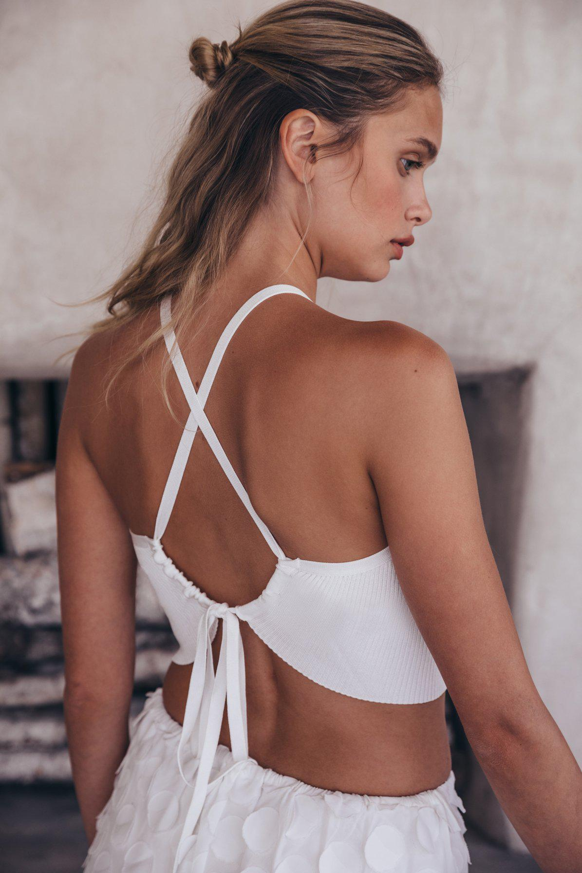 LALA KNIT TOP - DOVE