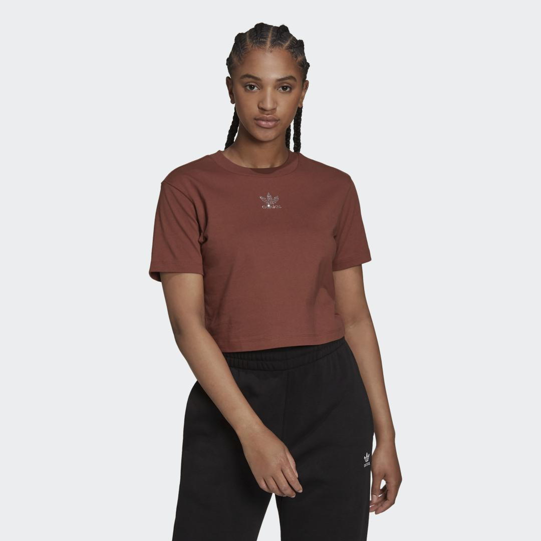 2000 Luxe Cropped Tee Earth Brown