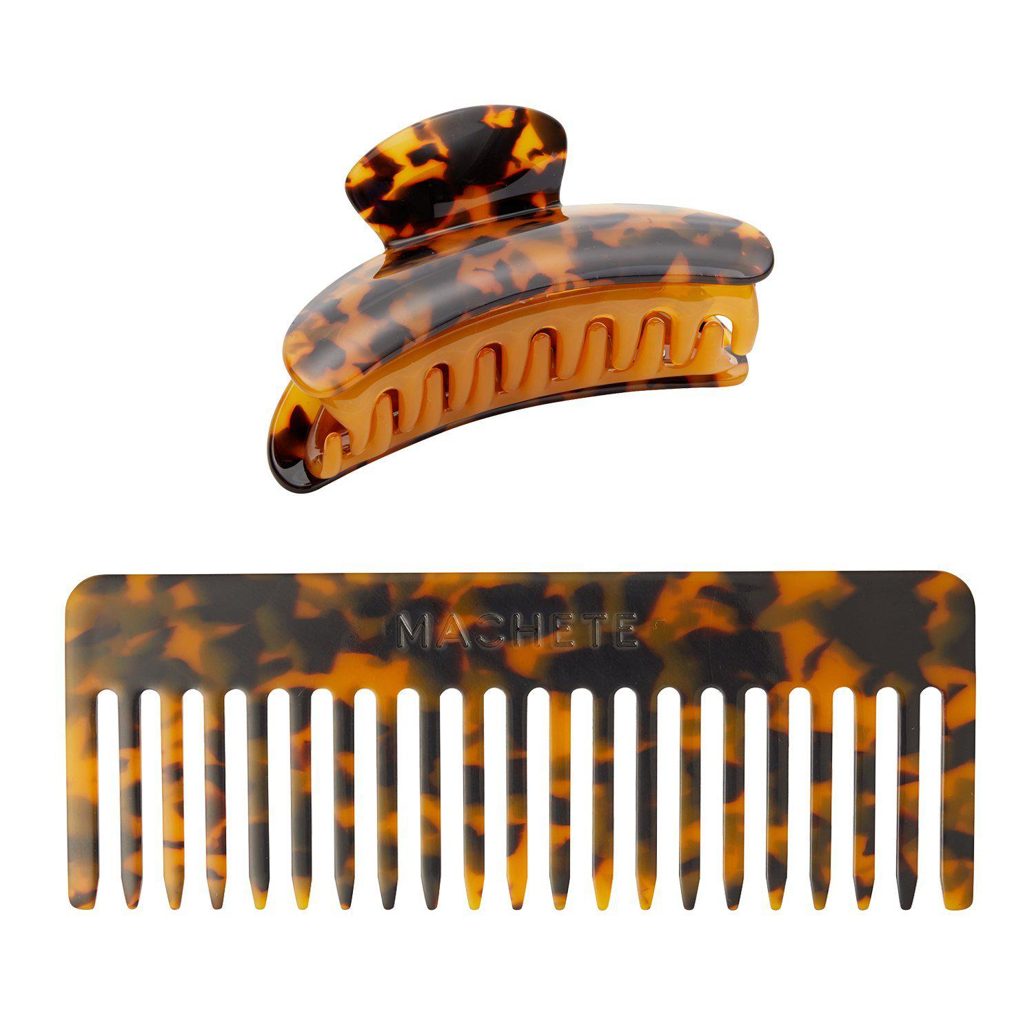 No. 2 Comb + Grande Heirloom Claw in Classic Tortoise