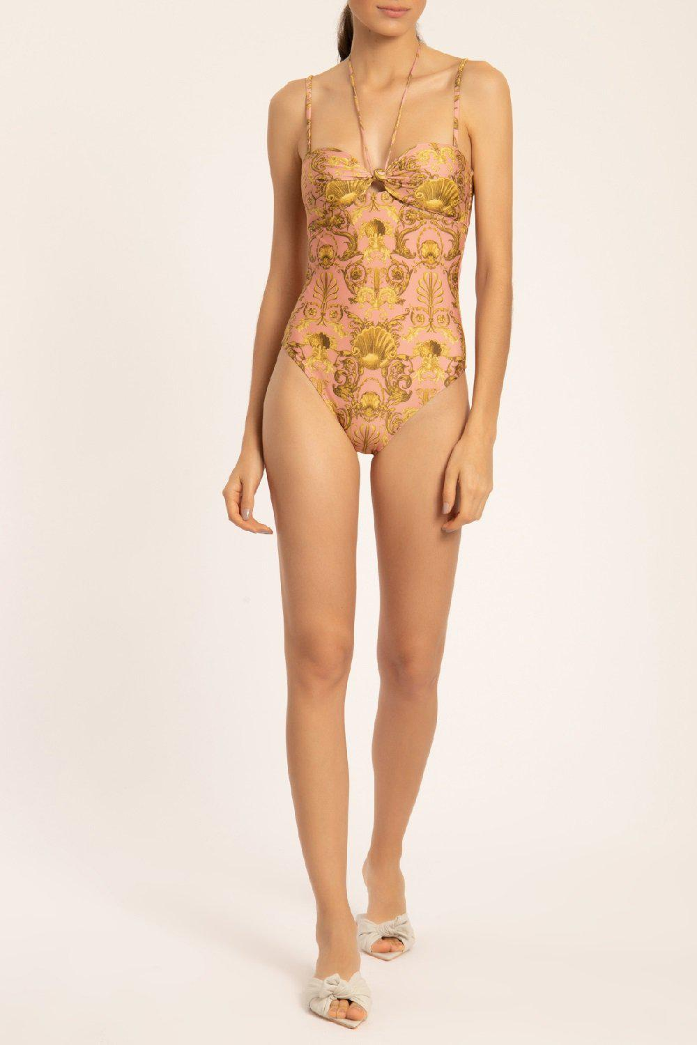 Seashell Swimsuit With Straps