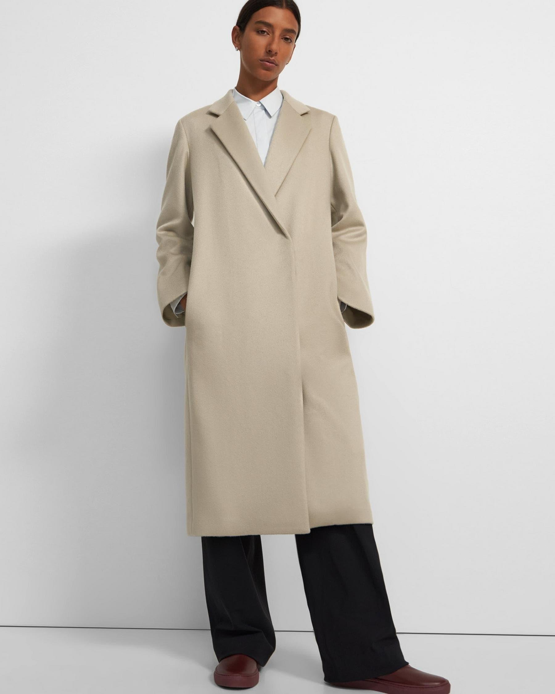 Long Double Breasted Coat in Cashmere