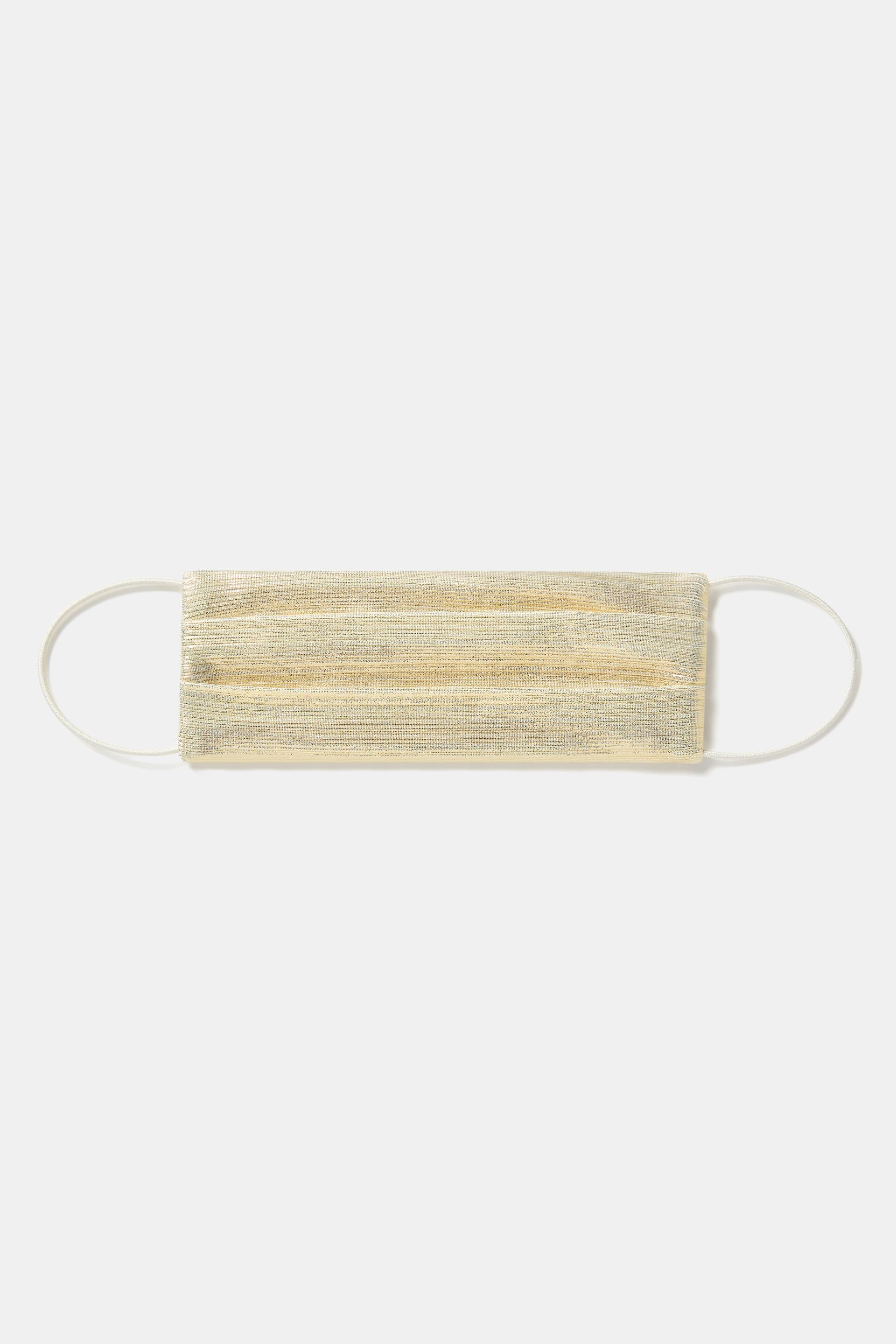 Face Mask With Elastic - Pale Gold