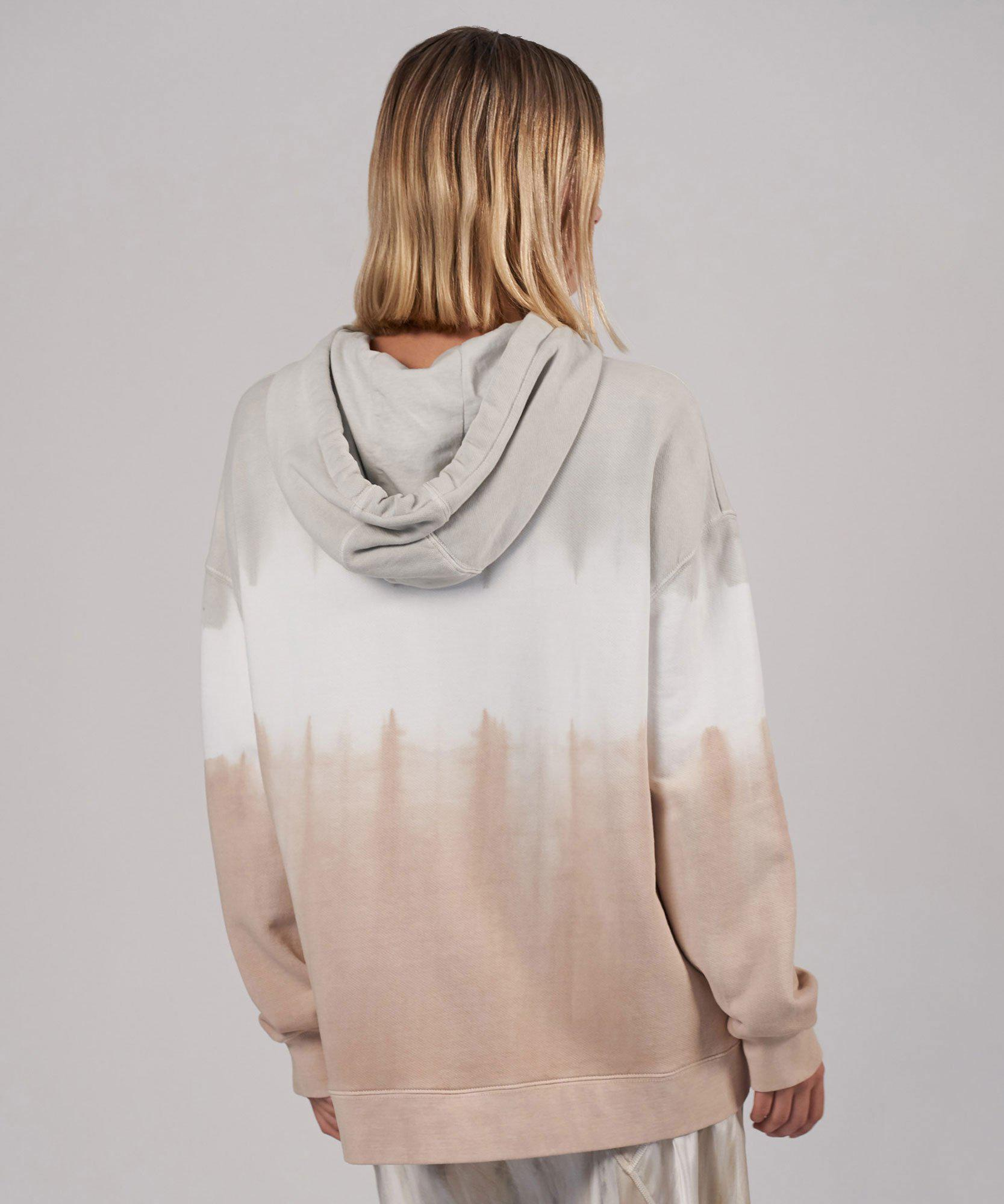 Tie Dye French Terry Oversized Hoodie - Vapor/ Talc/ Canvas Combo 2