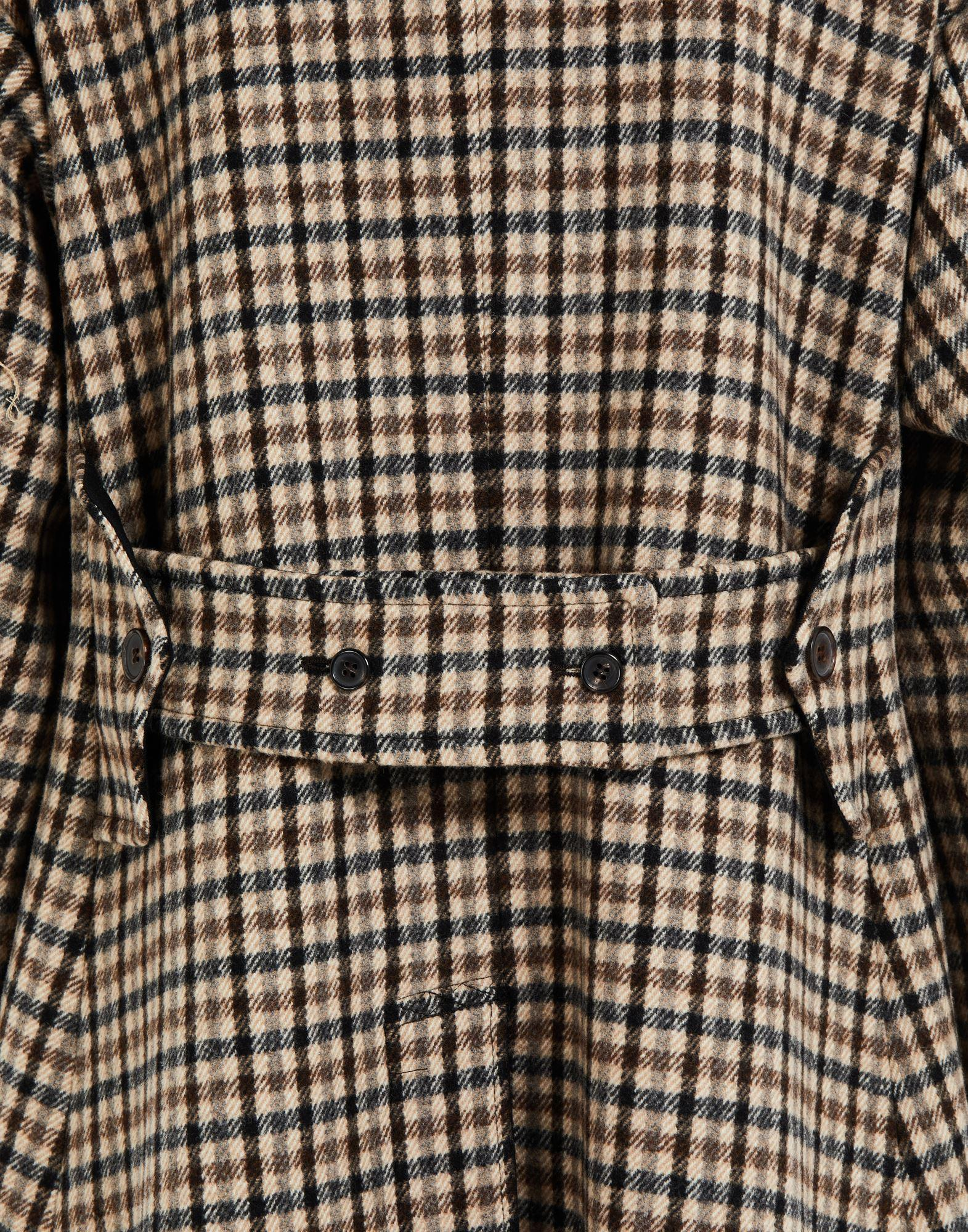 'Memory of' check trench coat 5