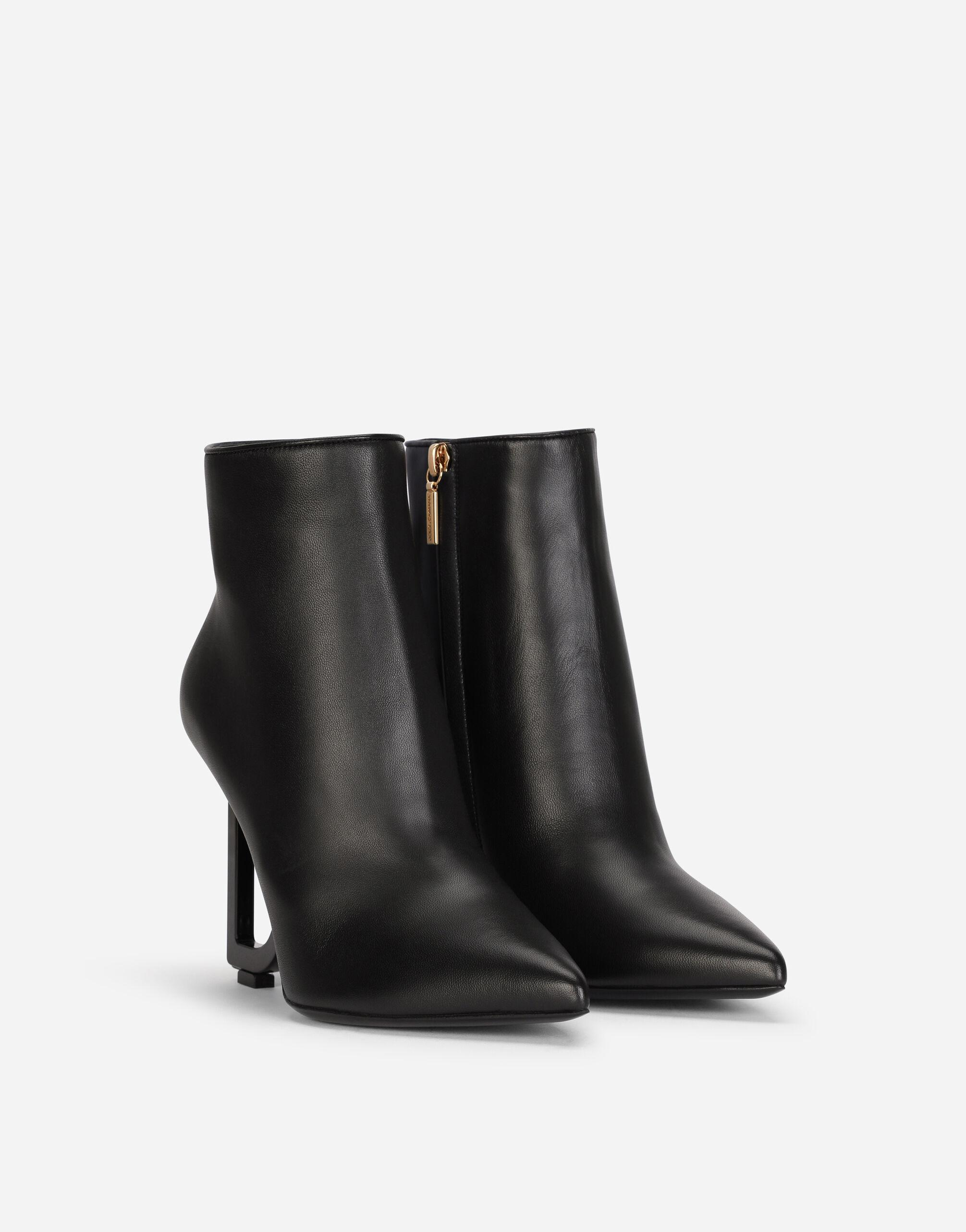 Nappa leather ankle boots with DG heel 1