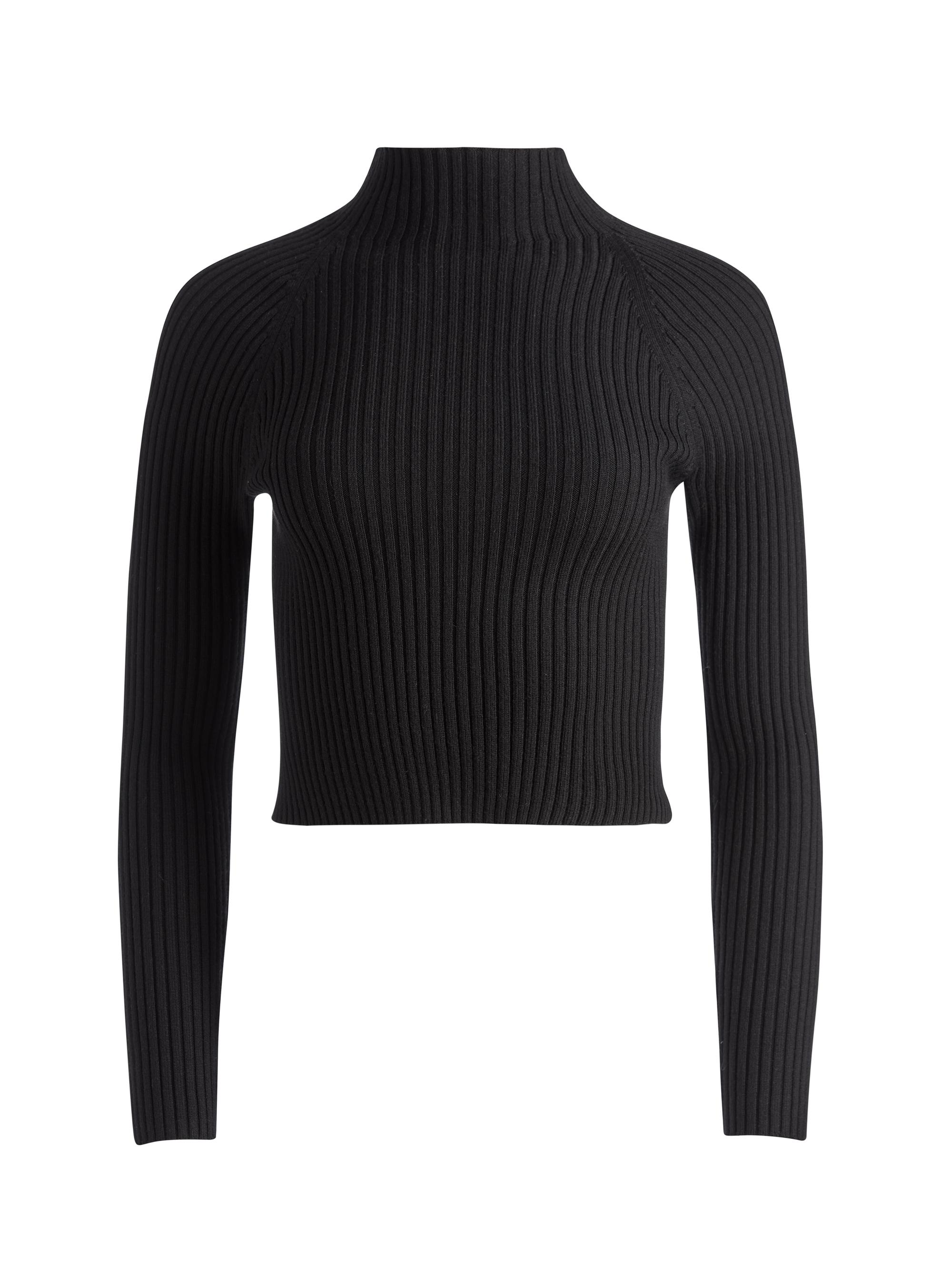 IRENA MOCK NECK CROPPED PULLOVER 5