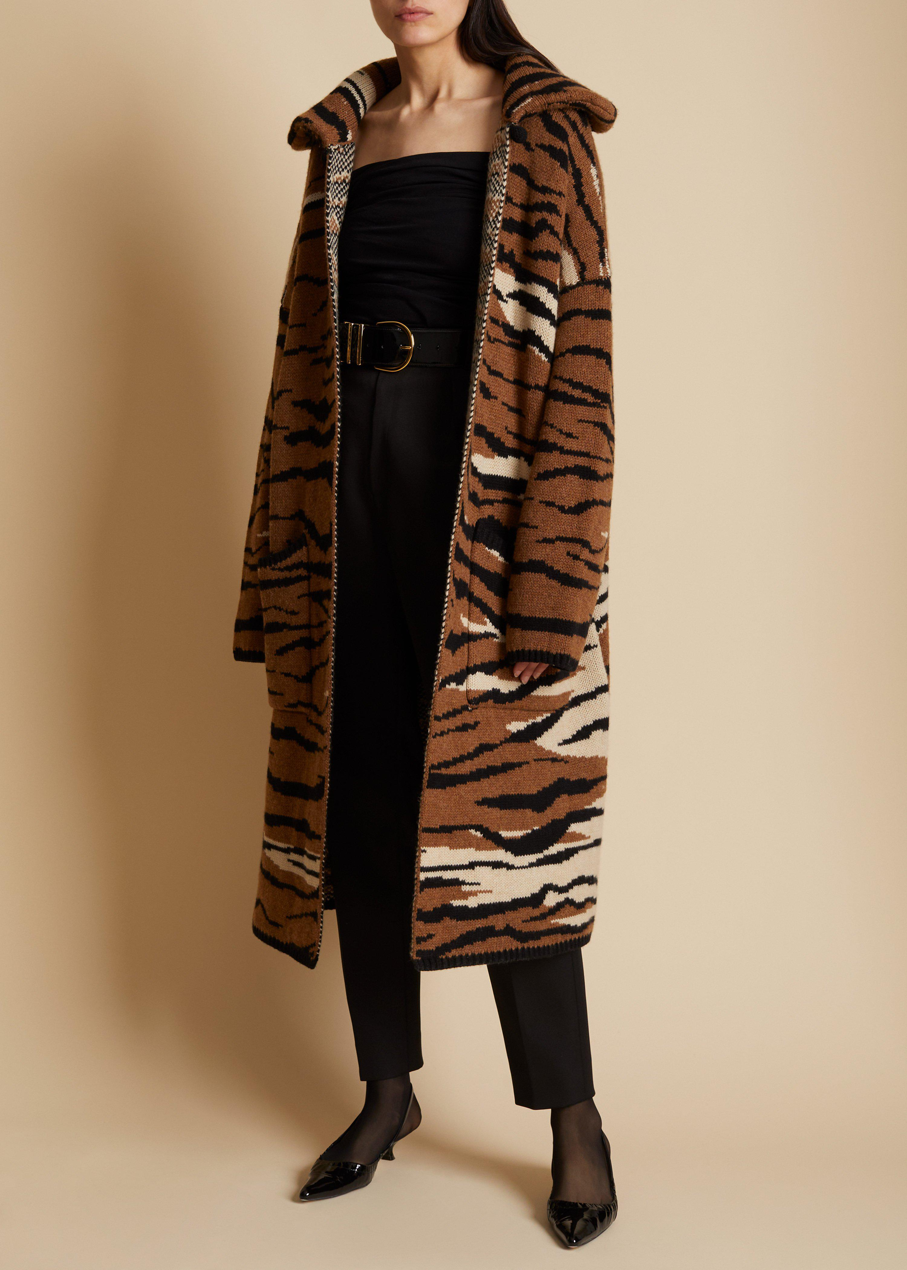 The Fiona Cardigan in Tiger Jacquard