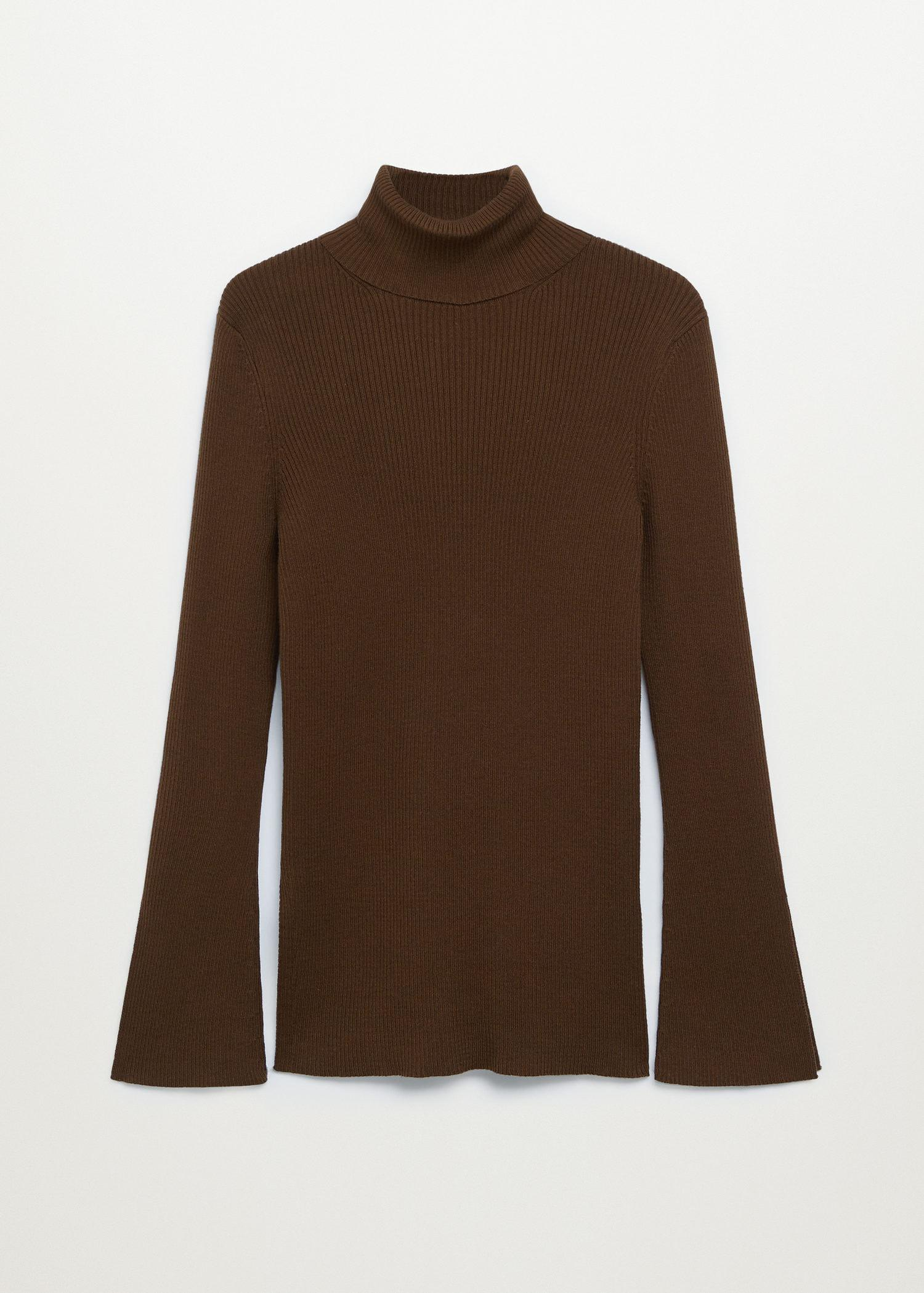 Rolled neck cable sweater 7
