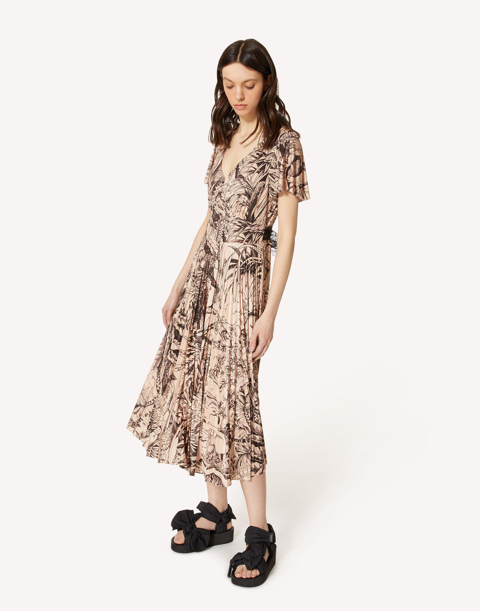 JERSEY DRESS WITH JUNGLE TOILE PRINT 2
