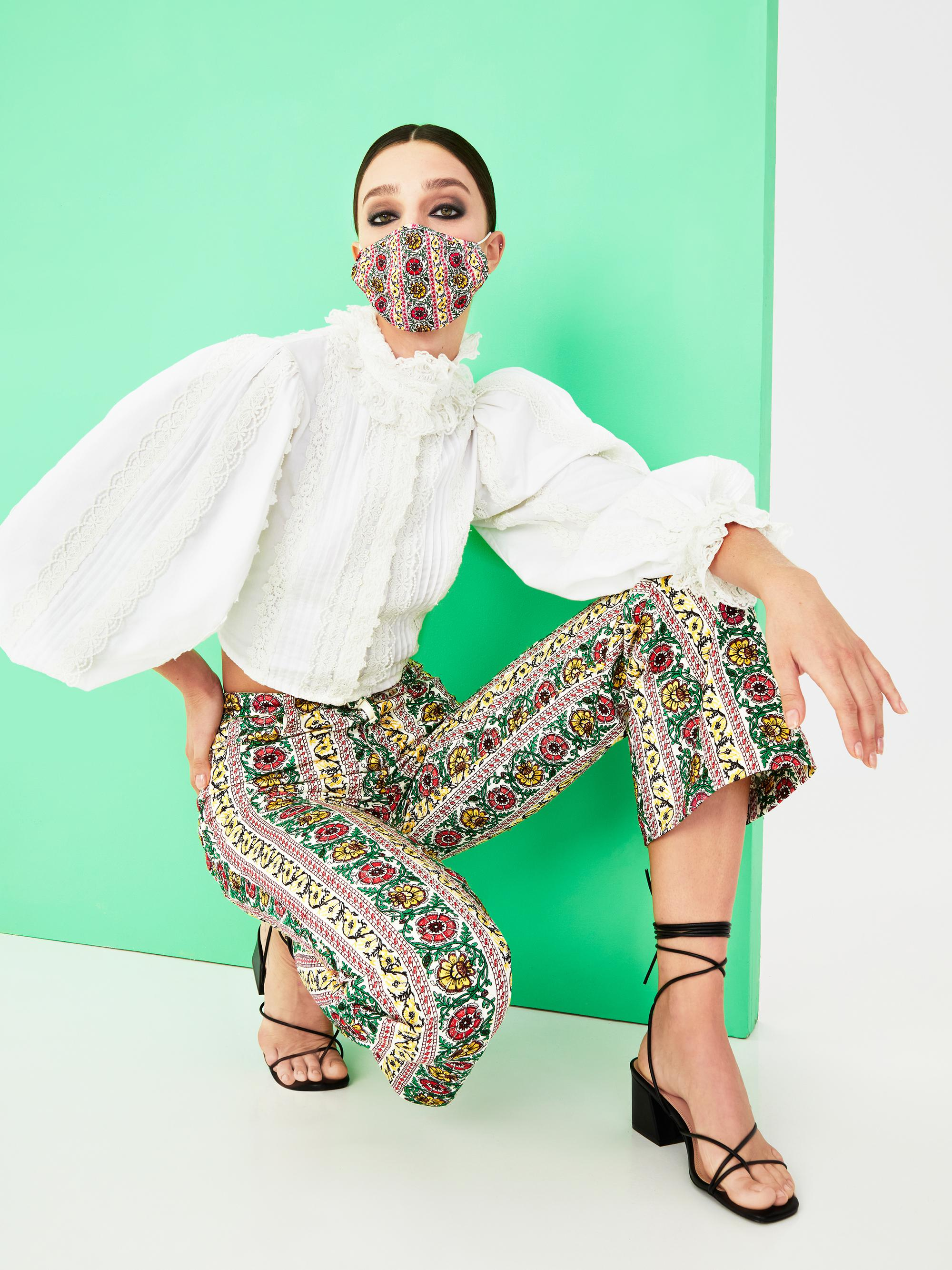 BENEDICT EMBROIDERED FLARE PANT 5