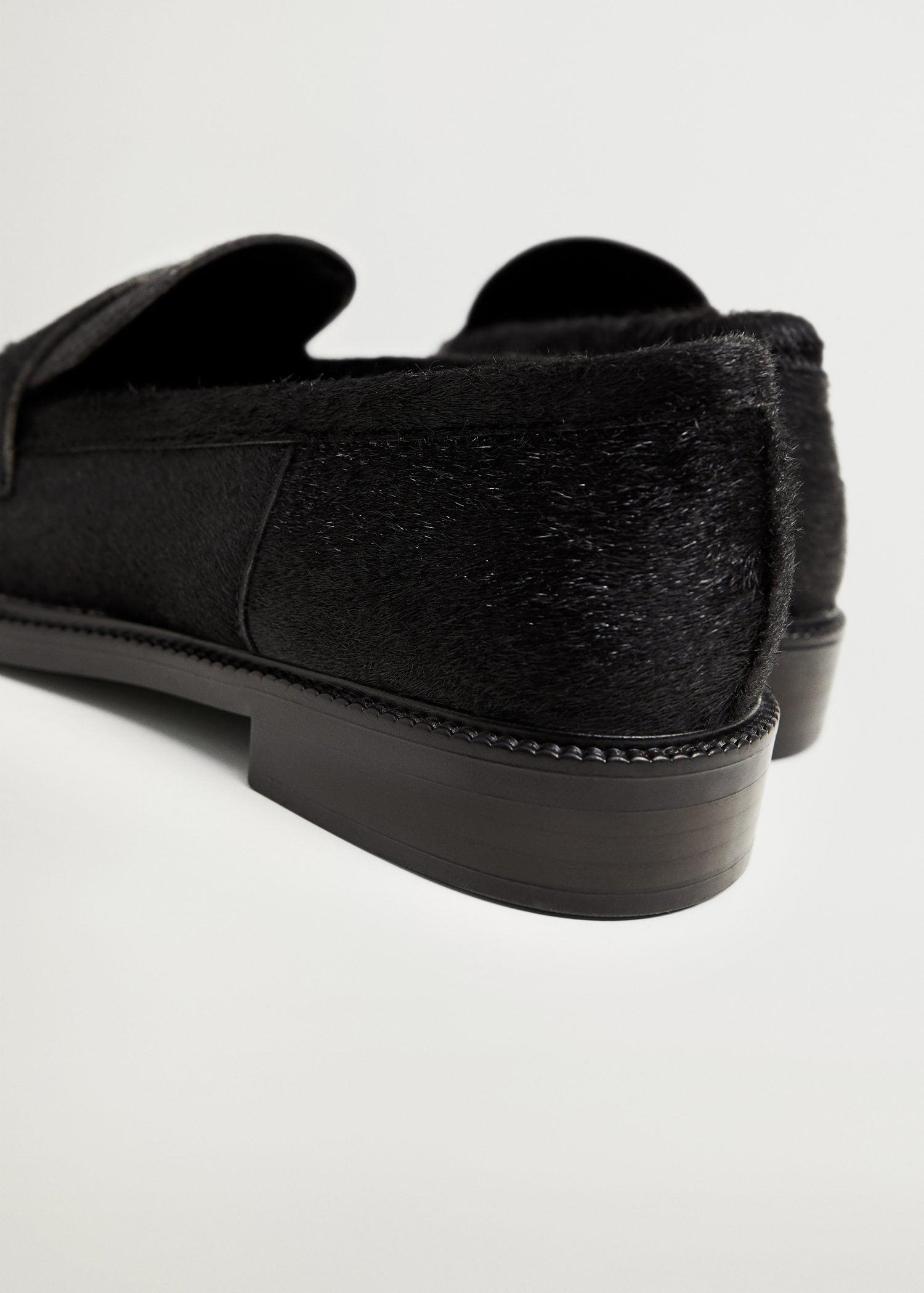 Fur leather loafers 2