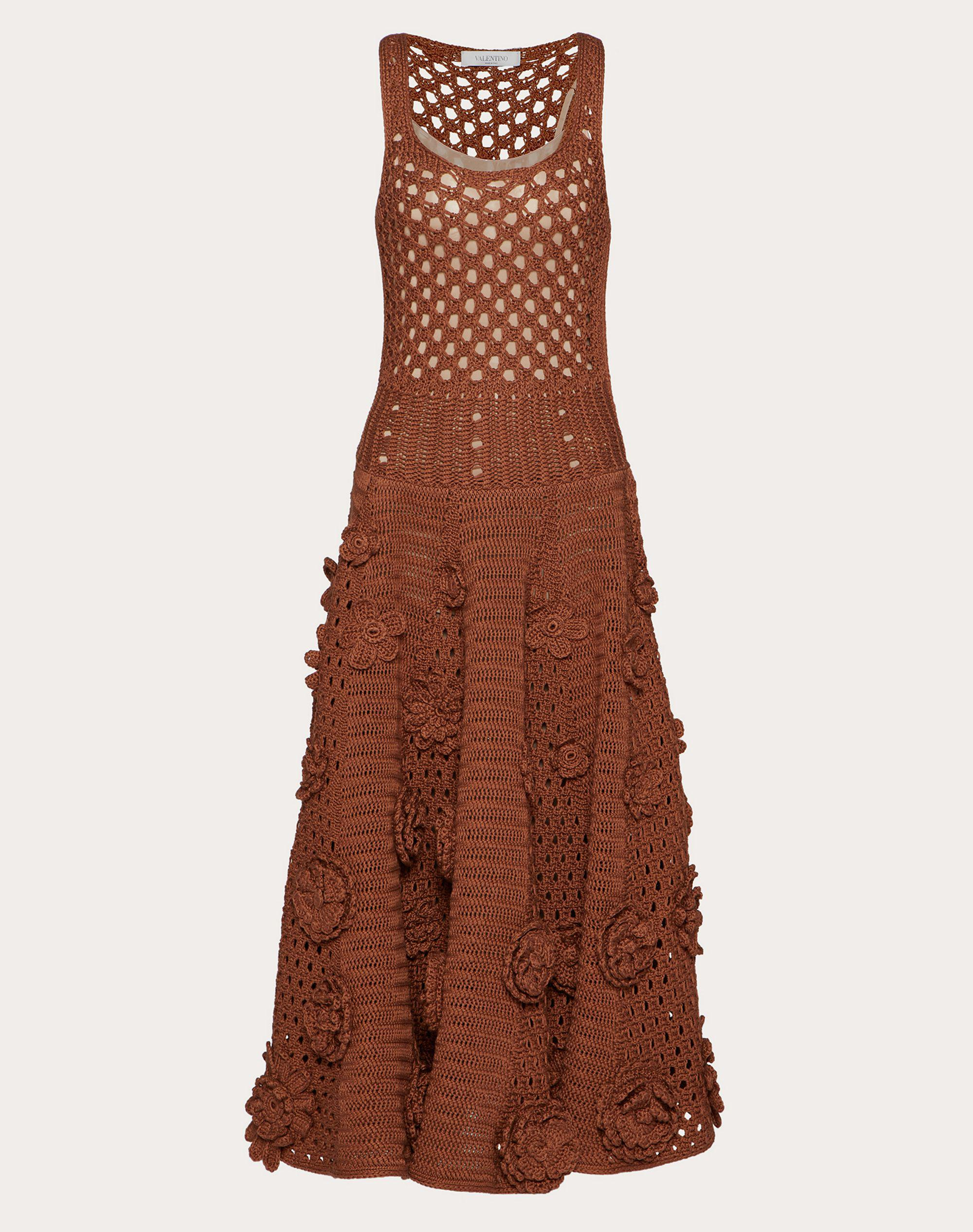 EMBROIDERED COTTON KNITTED DRESS 4