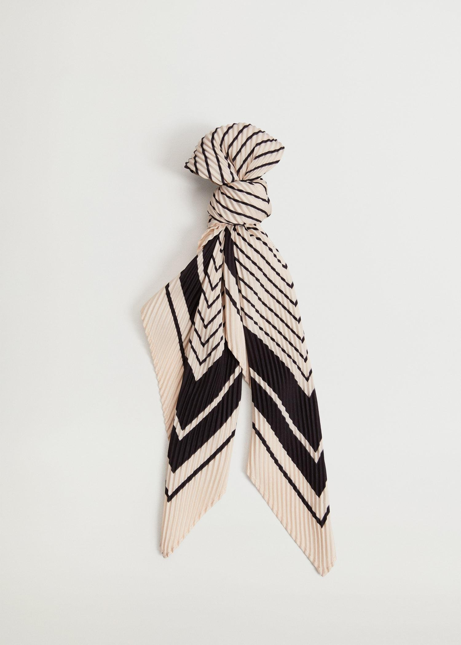 Striped printed scarf 2