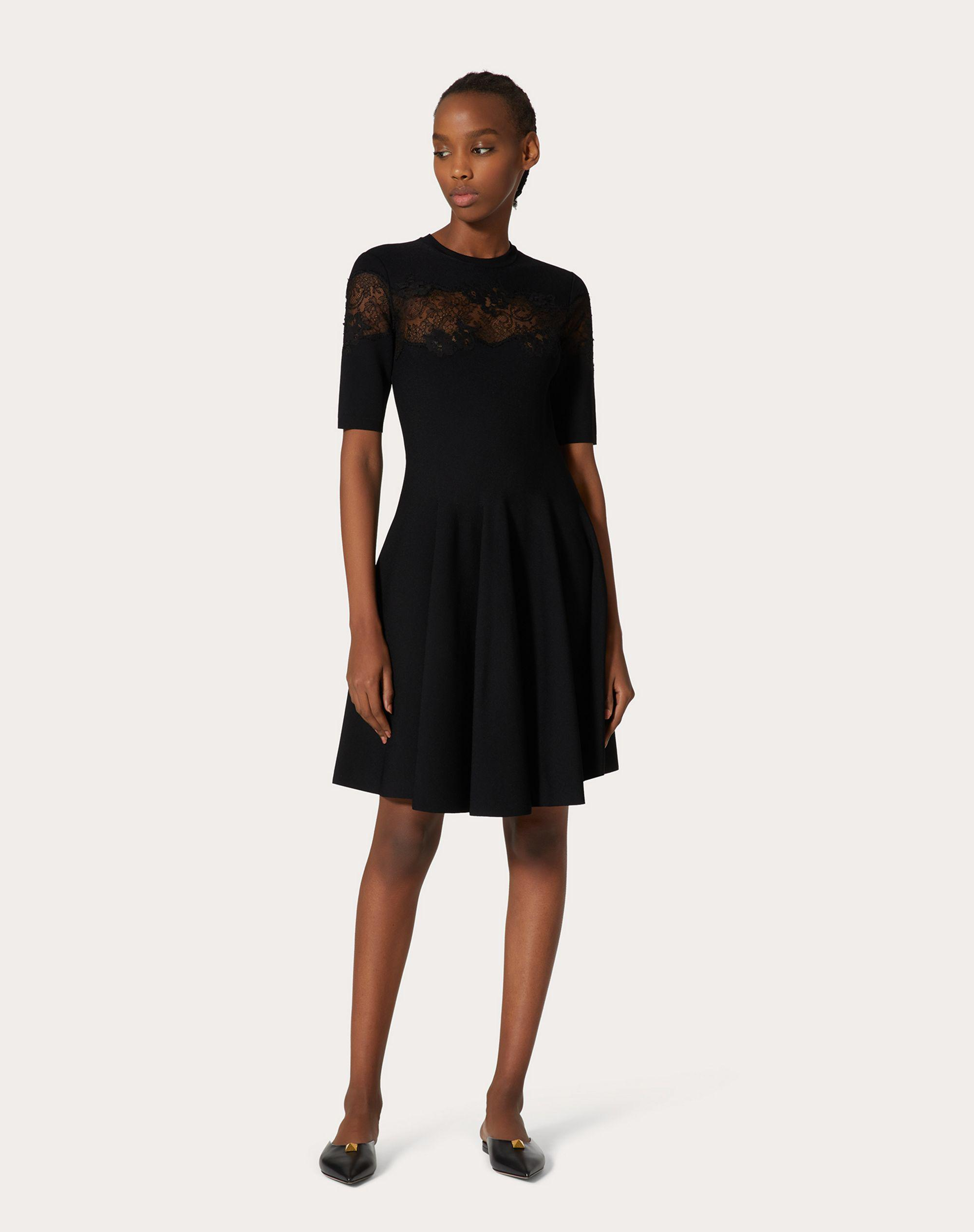 JERSEY DRESS IN STRETCHED VISCOSE AND LACE 1