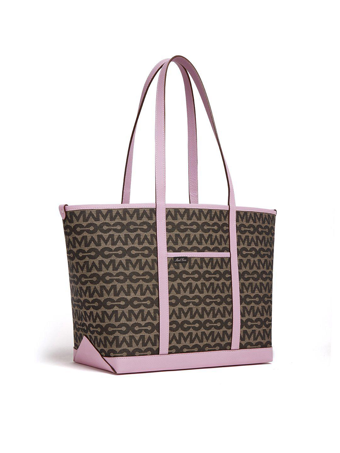 The Essentials Upcycled MC Jacquard & Leather Tote Bag 4