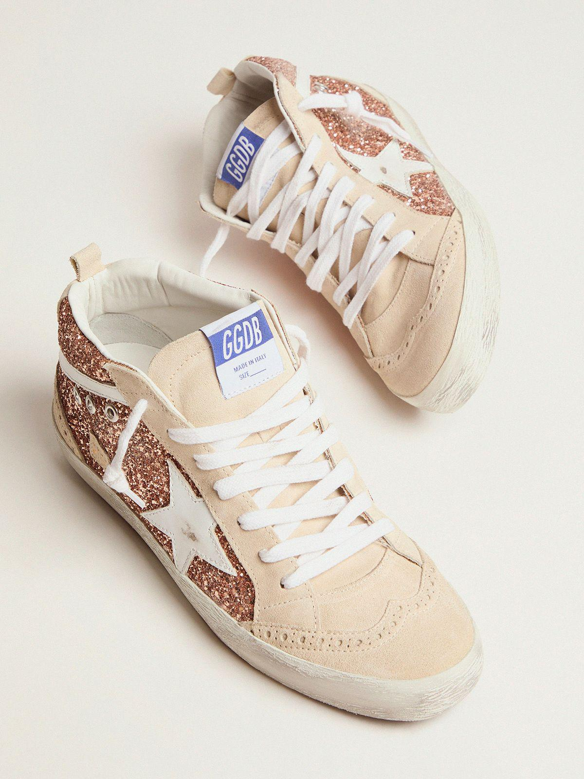 Mid Star sneakers with pink-gold glitter 1
