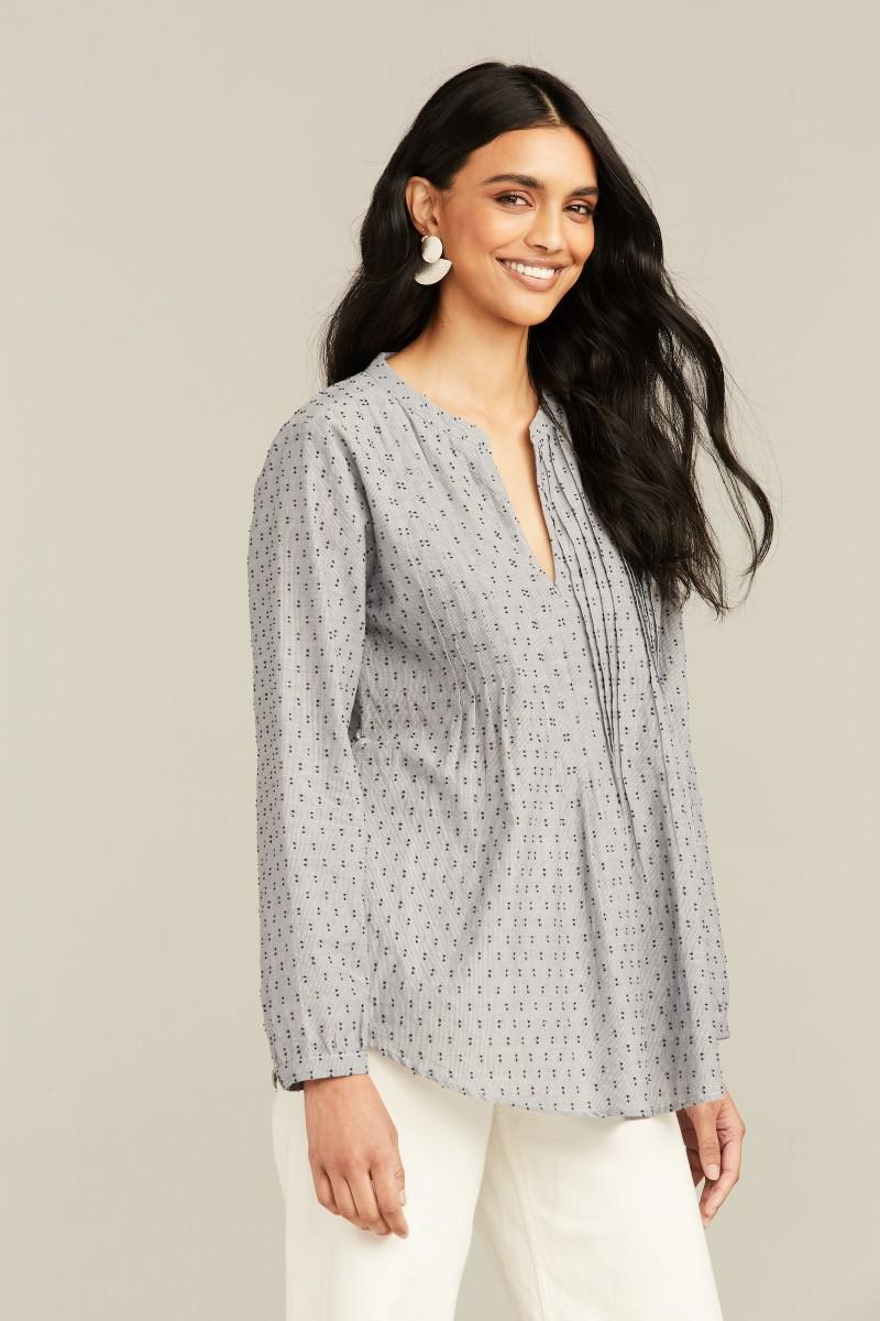 CHAMBRAY FIL COUPE WEI TOP 2