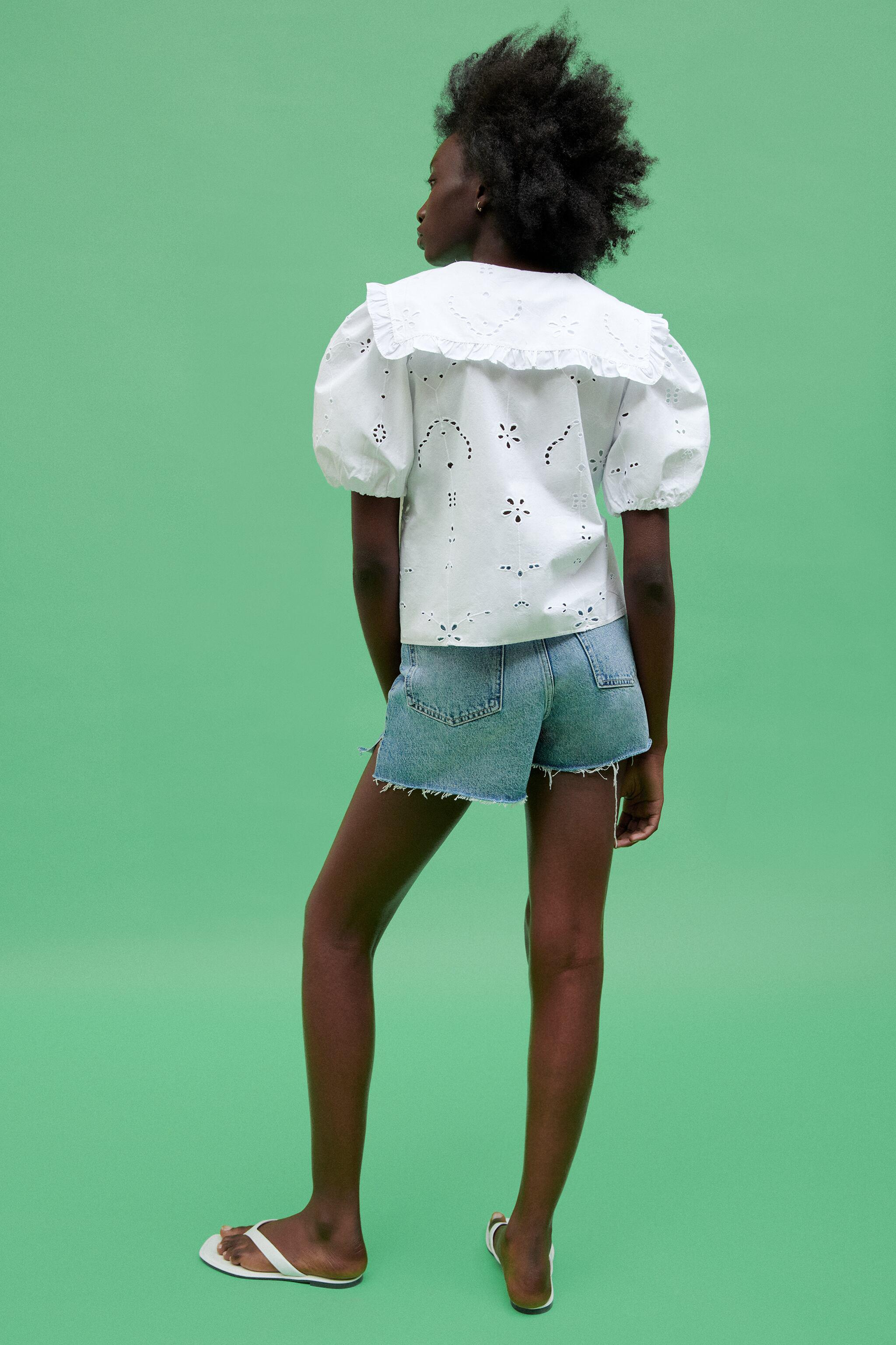 POPLIN TOP WITH EYELET EMBROIDERY 4
