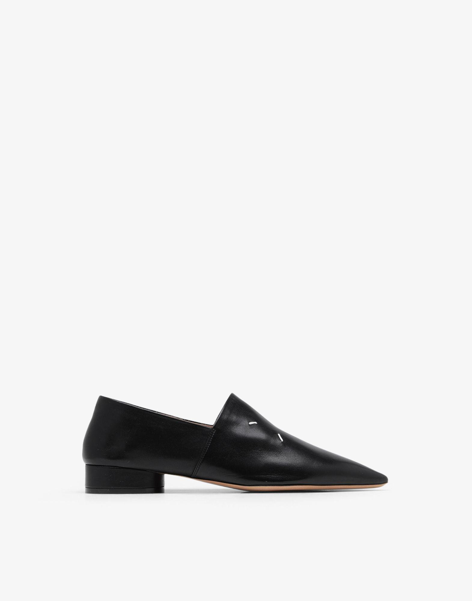 4-stitches leather loafers